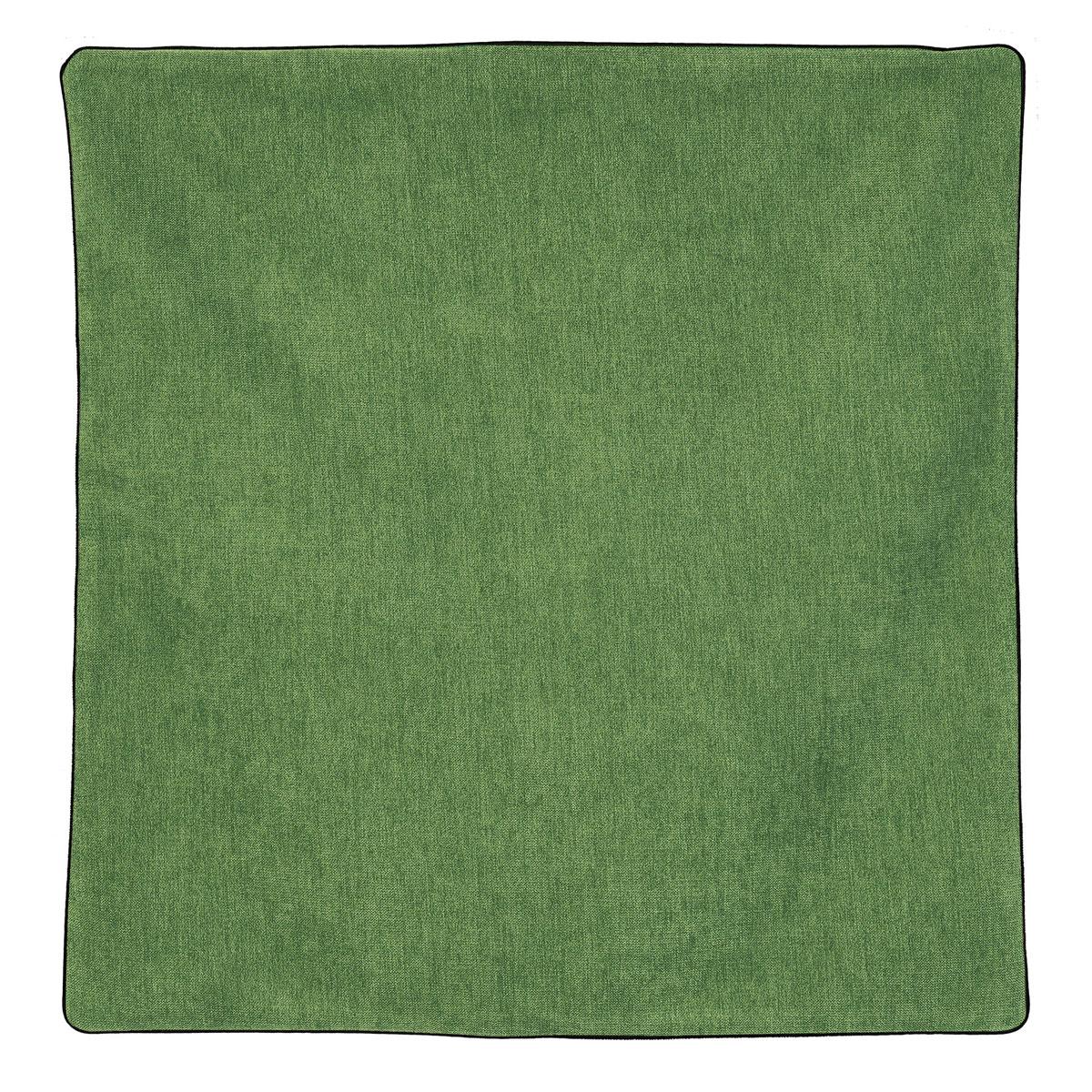 Housse de coussin passepoilée effet velours  (Vert)