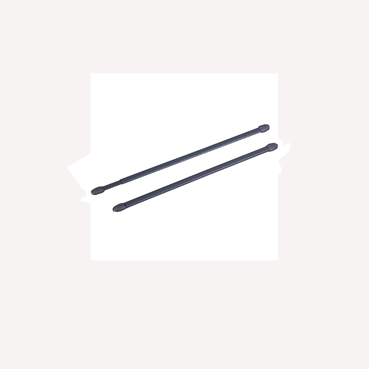 2 tringles pour vitrage à visser anthracite - Anthracite - 40 à 65 cm