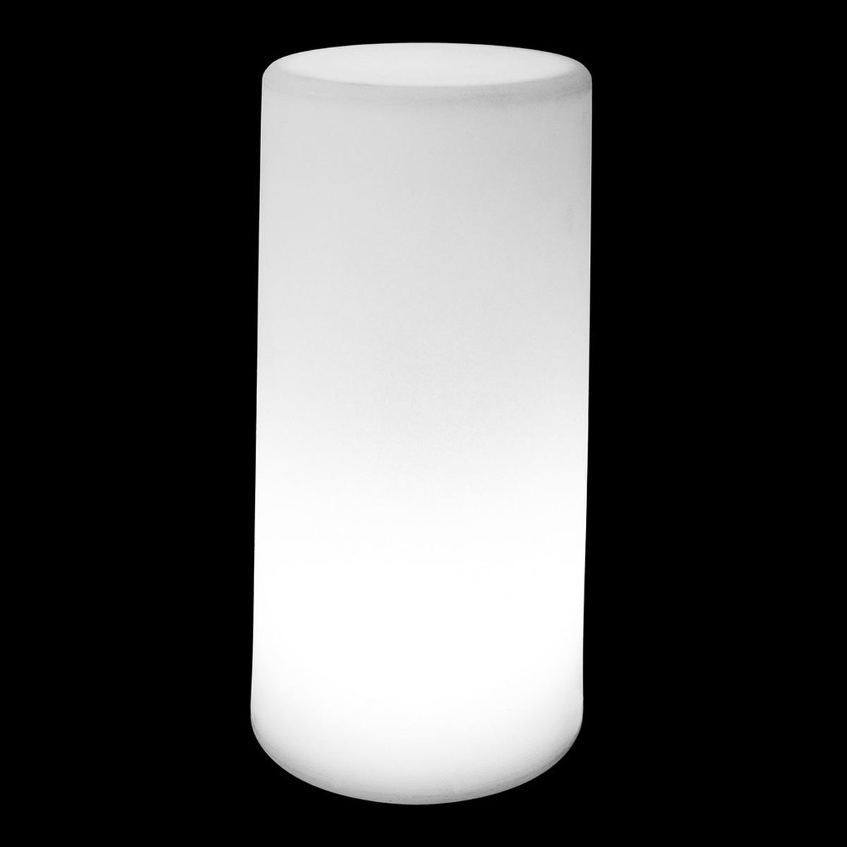 Lampe d'extérieur cylindrique (Blanc)