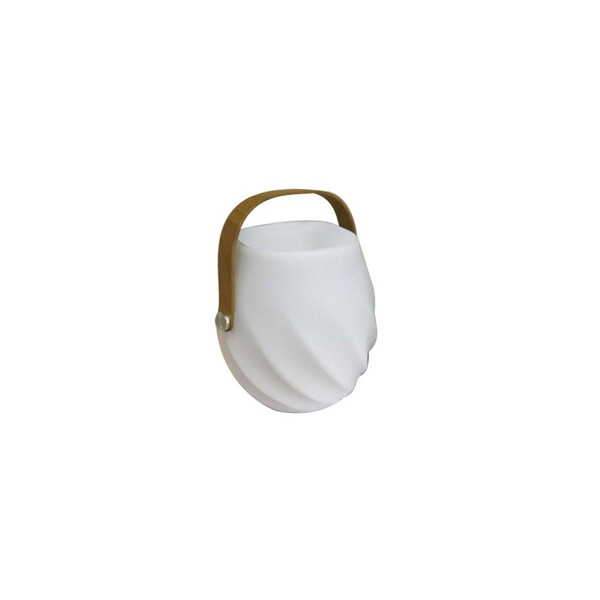 Lampe led avec poignée pour extérieur - Blanc - 18.00 cm x 18.00 cm x 26.00 cm