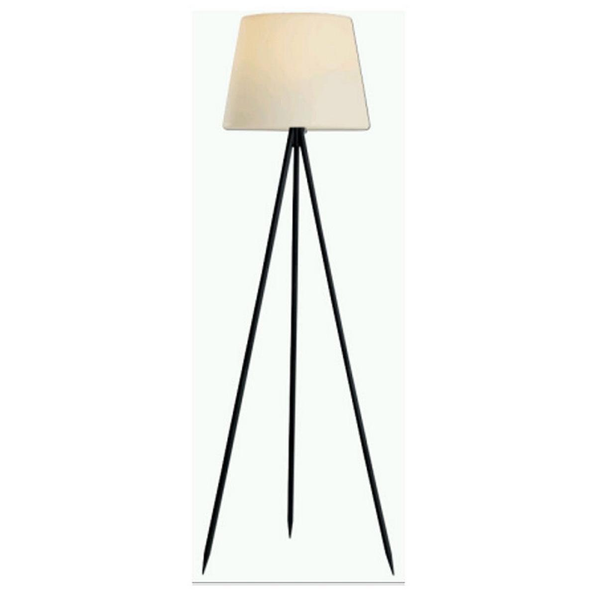 Lampadaire d'extérieur à 3 pieds - Noir - 60.00 cm x 60.00 cm x 150.00 cm