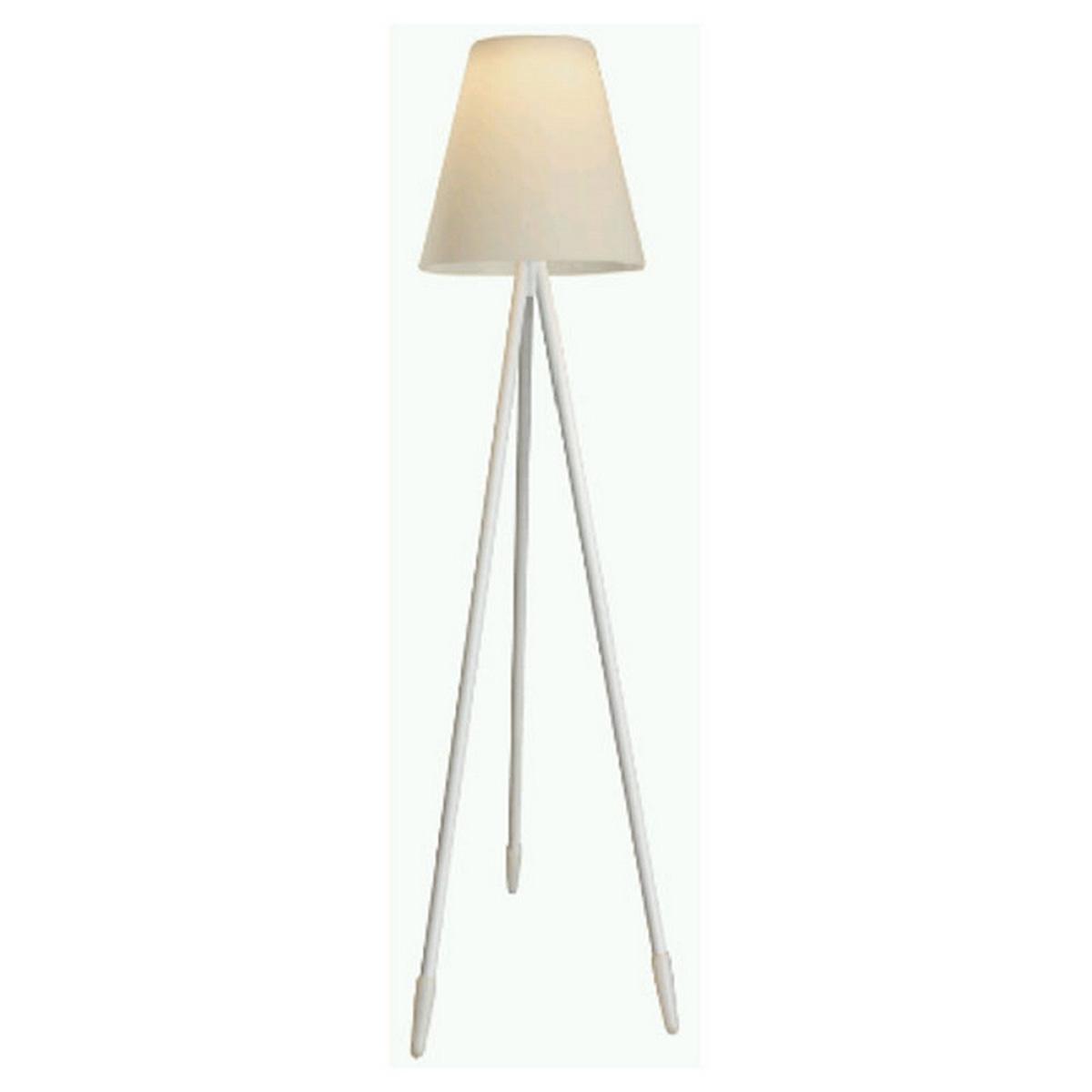 Lampadaire d'extérieur à 3 pieds - Blanc - 60.00 cm x 60.00 cm x 150.00 cm