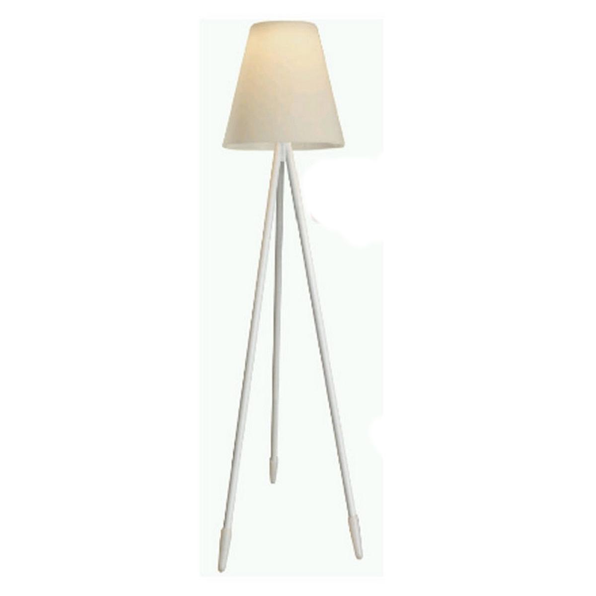 Lampadaire solaire à 3 pieds - Blanc - 60.00 cm x 60.00 cm x 150.00 cm