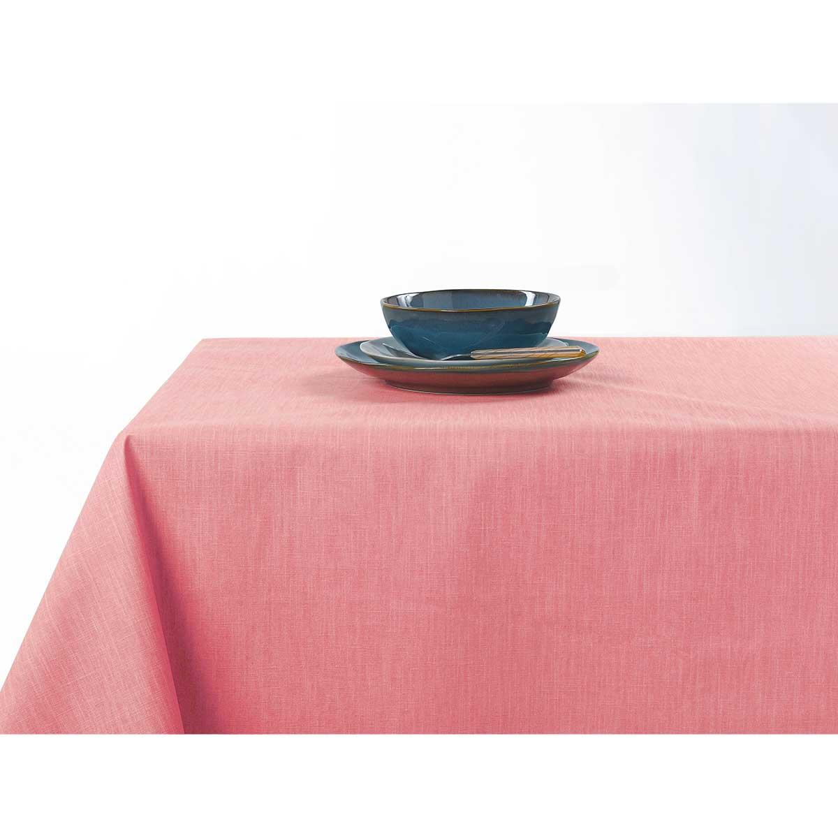 Nappe enduite anti taches aux couleurs acidulées - Rose - 150 x 200 cm