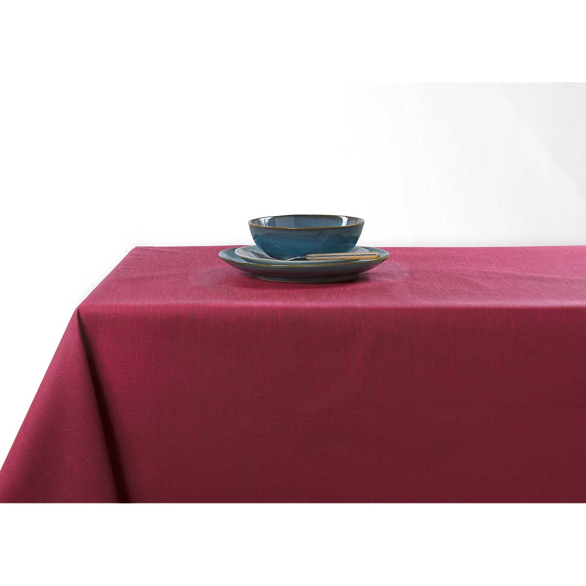 Nappe enduite anti taches aux couleurs acidulées - Bordeaux - 150 x 200 cm