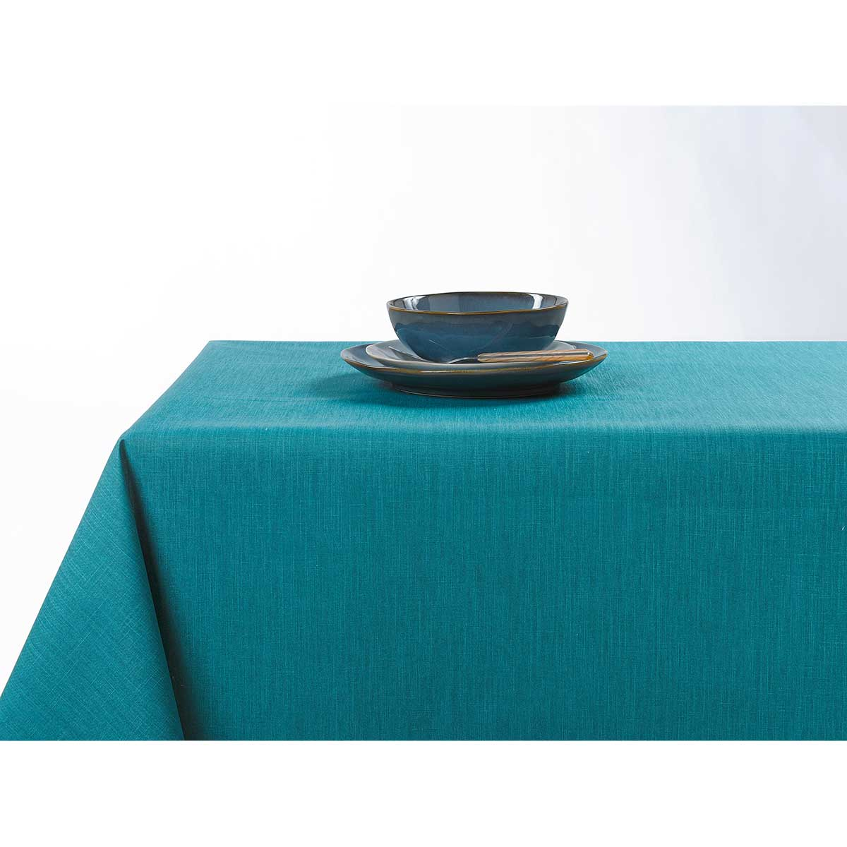 Nappe enduite anti taches aux couleurs acidulées - Canard - 150 x 200 cm
