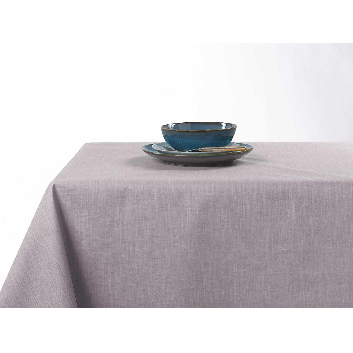 Nappe enduite anti taches aux couleurs acidulées - Gris clair - 150 x 200 cm