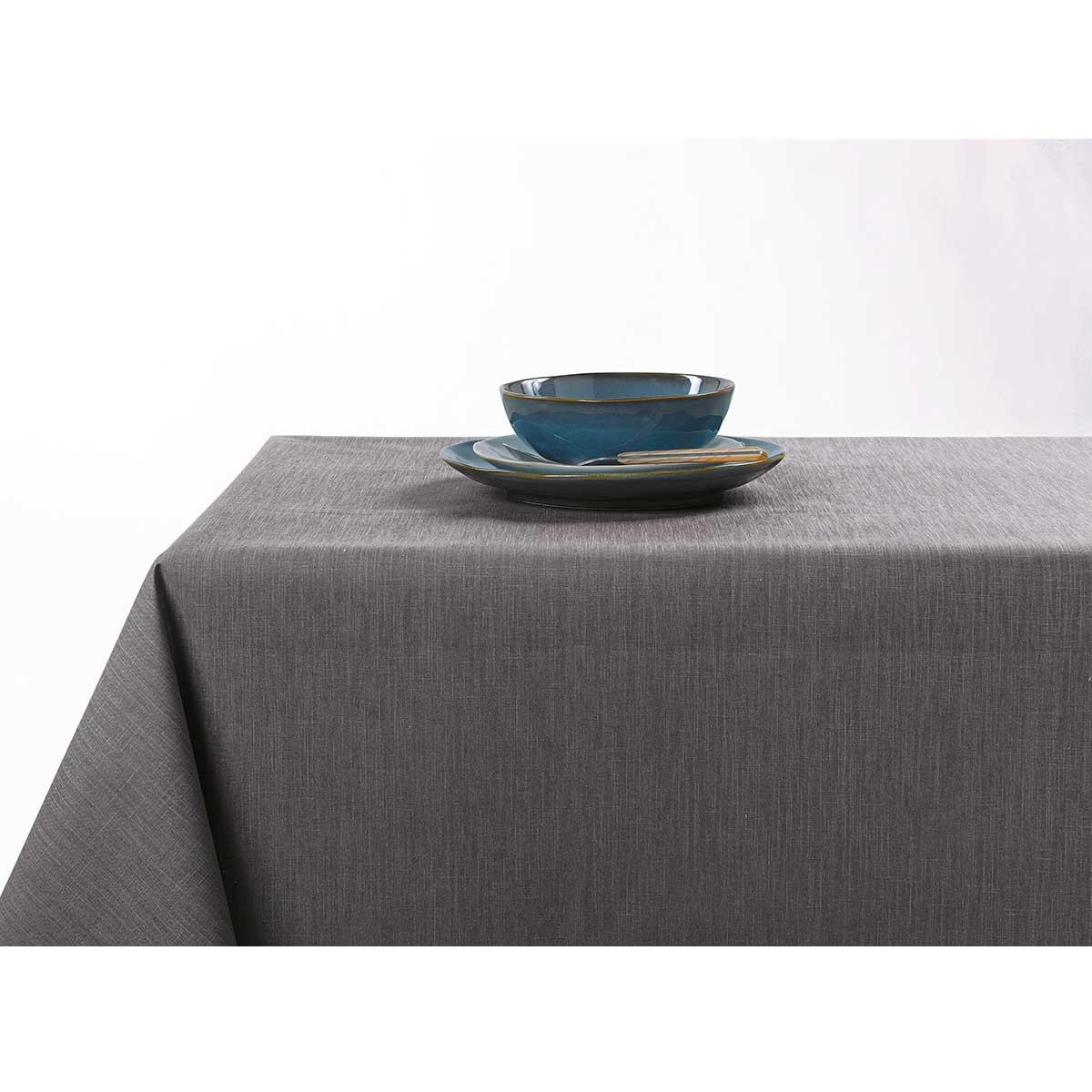 Nappe enduite anti taches aux couleurs acidulées - Gris Foncé - 150 x 200 cm