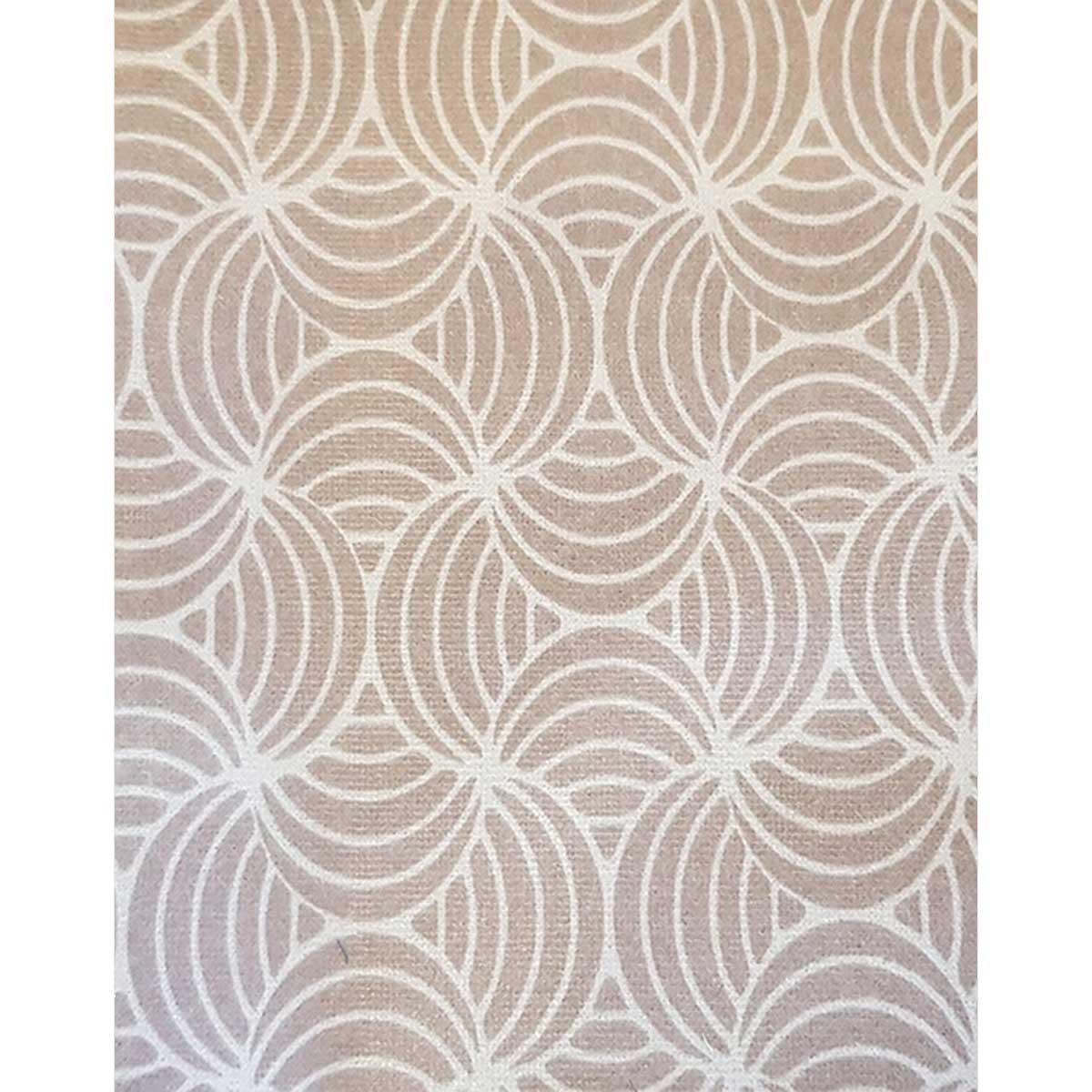 Tissu déperlant imprimé géométrique - Beige - 1.55 m