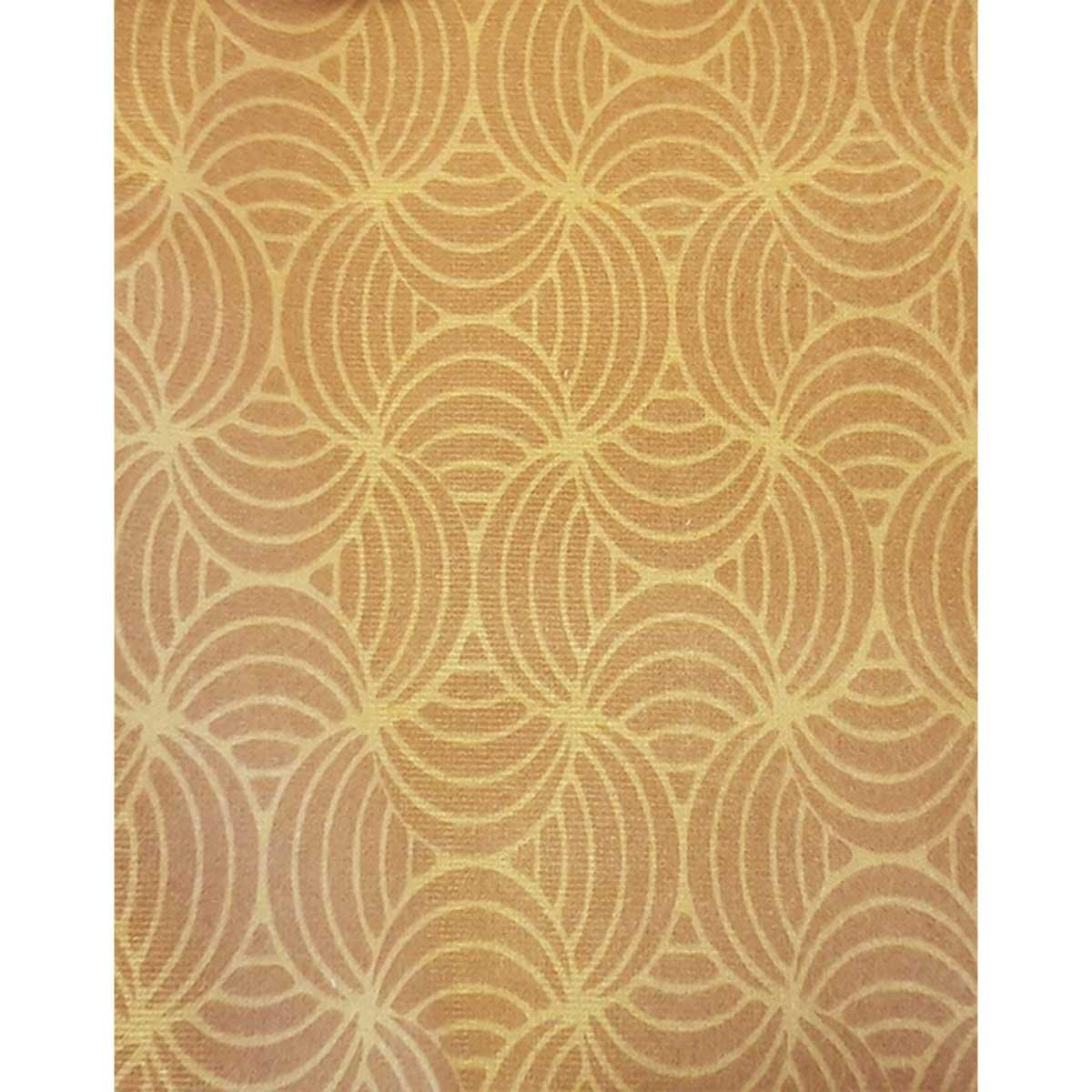 Tissu déperlant imprimé géométrique - Jaune - 1.55 m