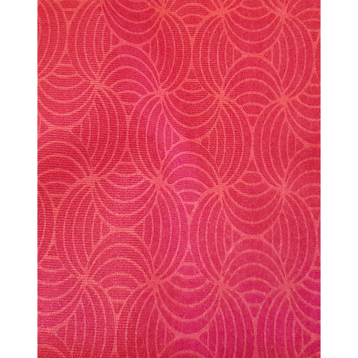 Tissu déperlant imprimé géométrique - Rose - 1.55 m
