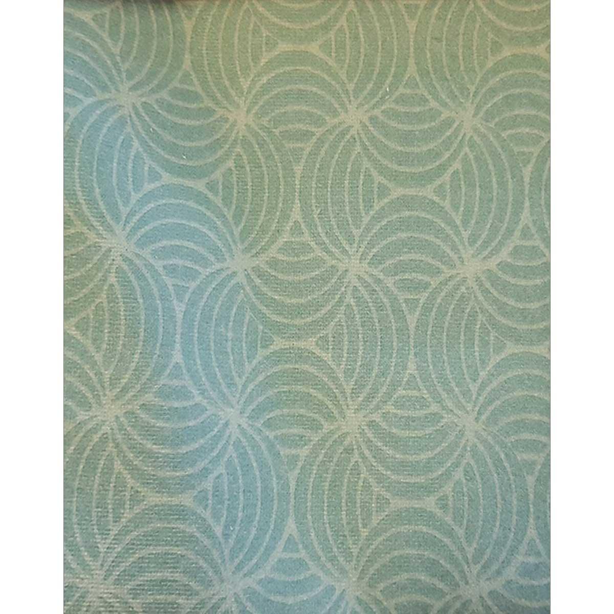 Tissu déperlant imprimé géométrique - Vert - 1.55 m