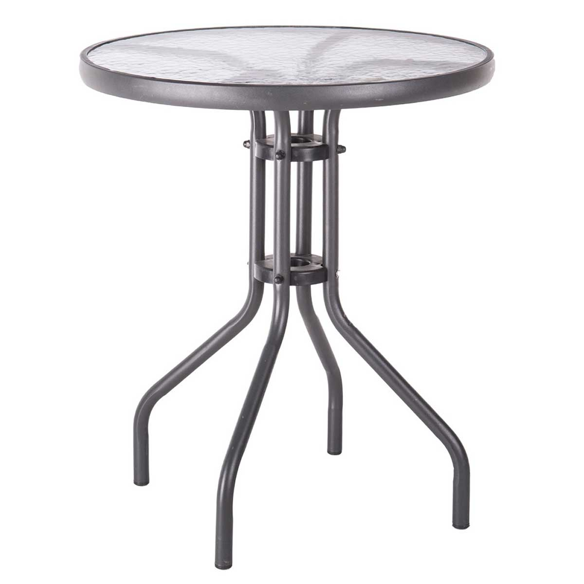 Table de balcon style bistrot - Anthracite - 60.00 cm x 60.00 cm x 71.00 cm