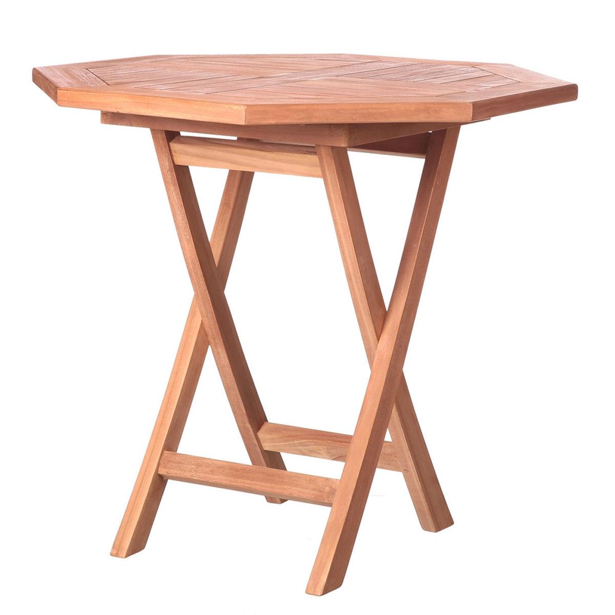 Table octogonale en teck (Naturel)