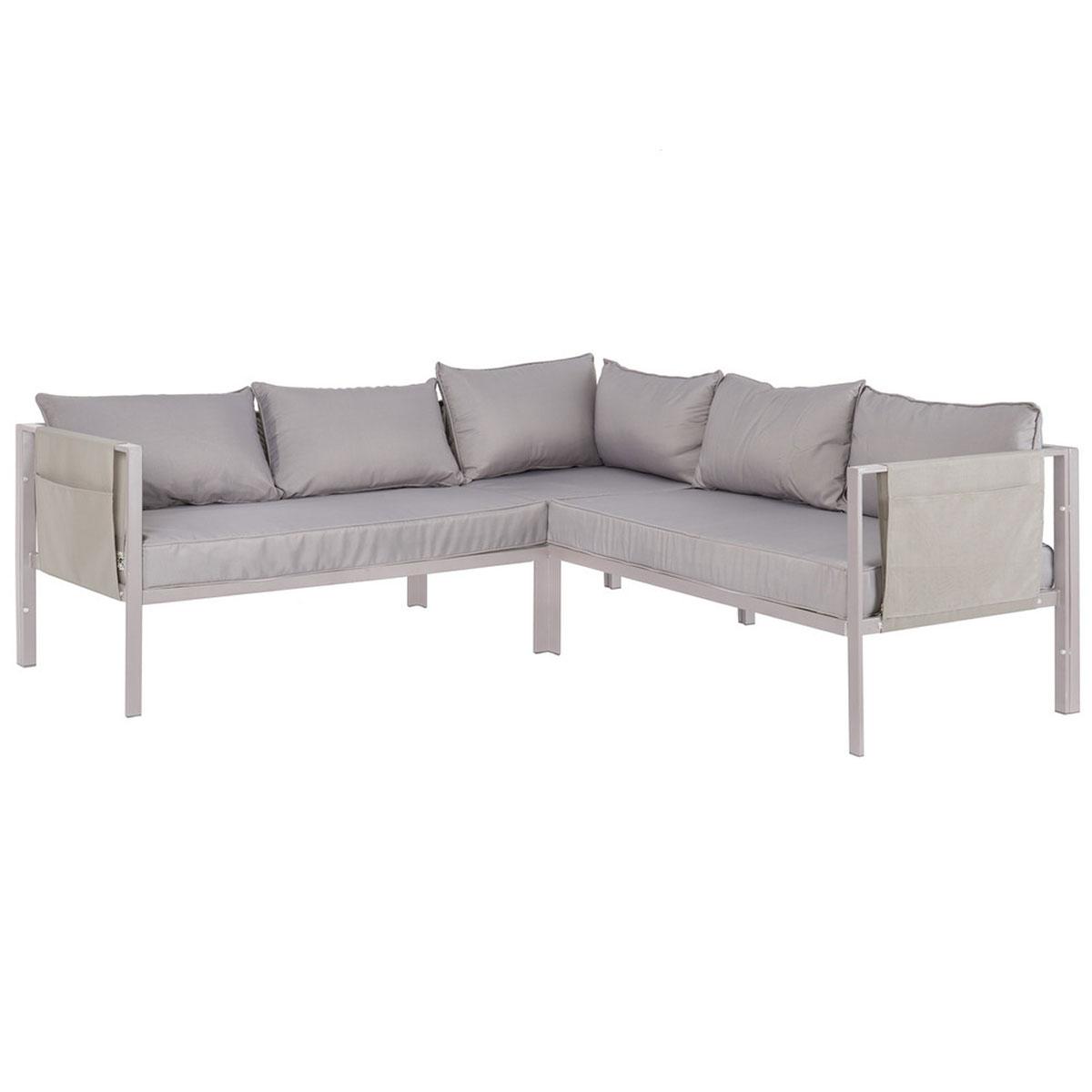 Canapé d'angle avec portes revues - Gris - 195.00 cm x 195.00 cm x 72.00 cm