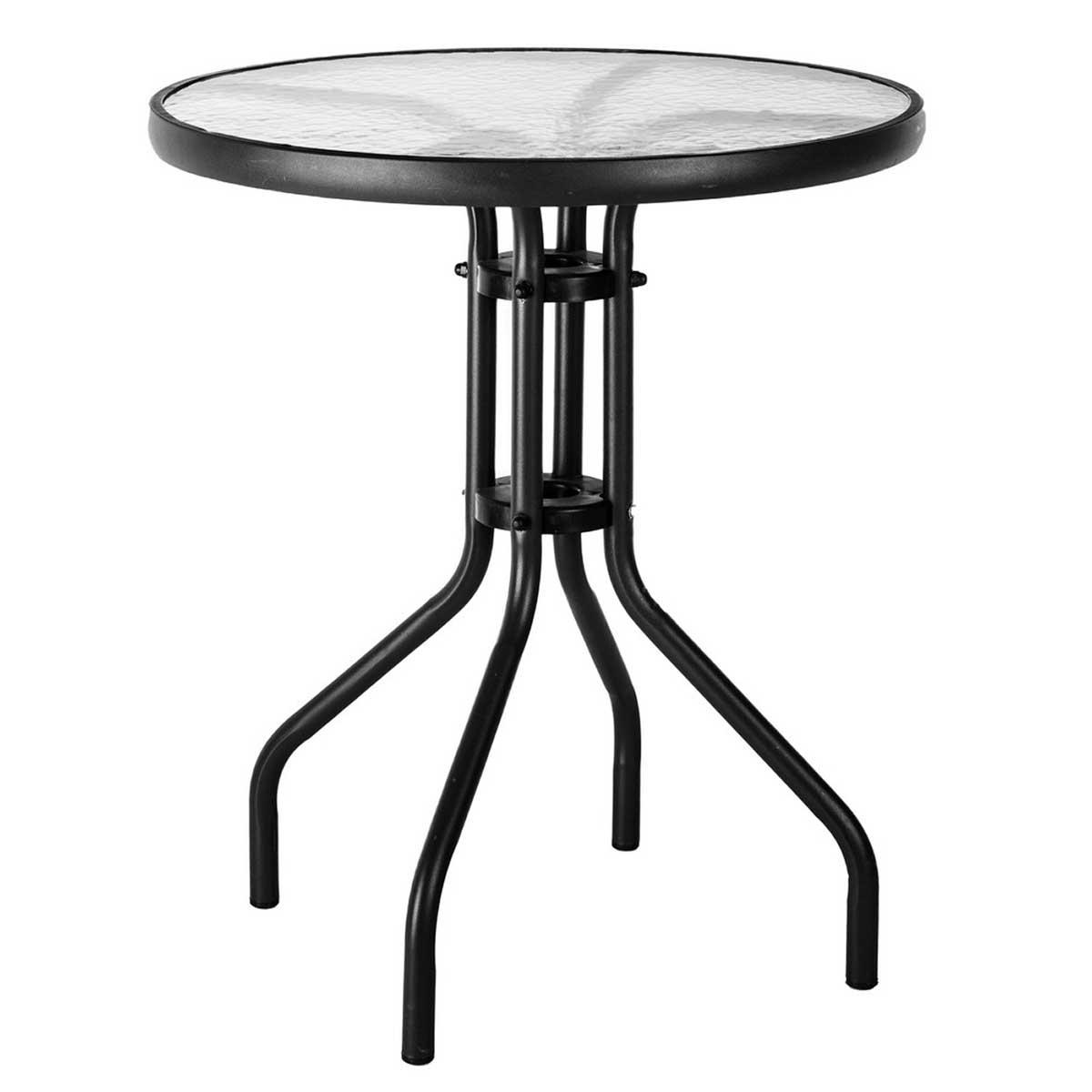 Table de balcon style bistrot - Noir - 60.00 cm x 60.00 cm x 71.00 cm