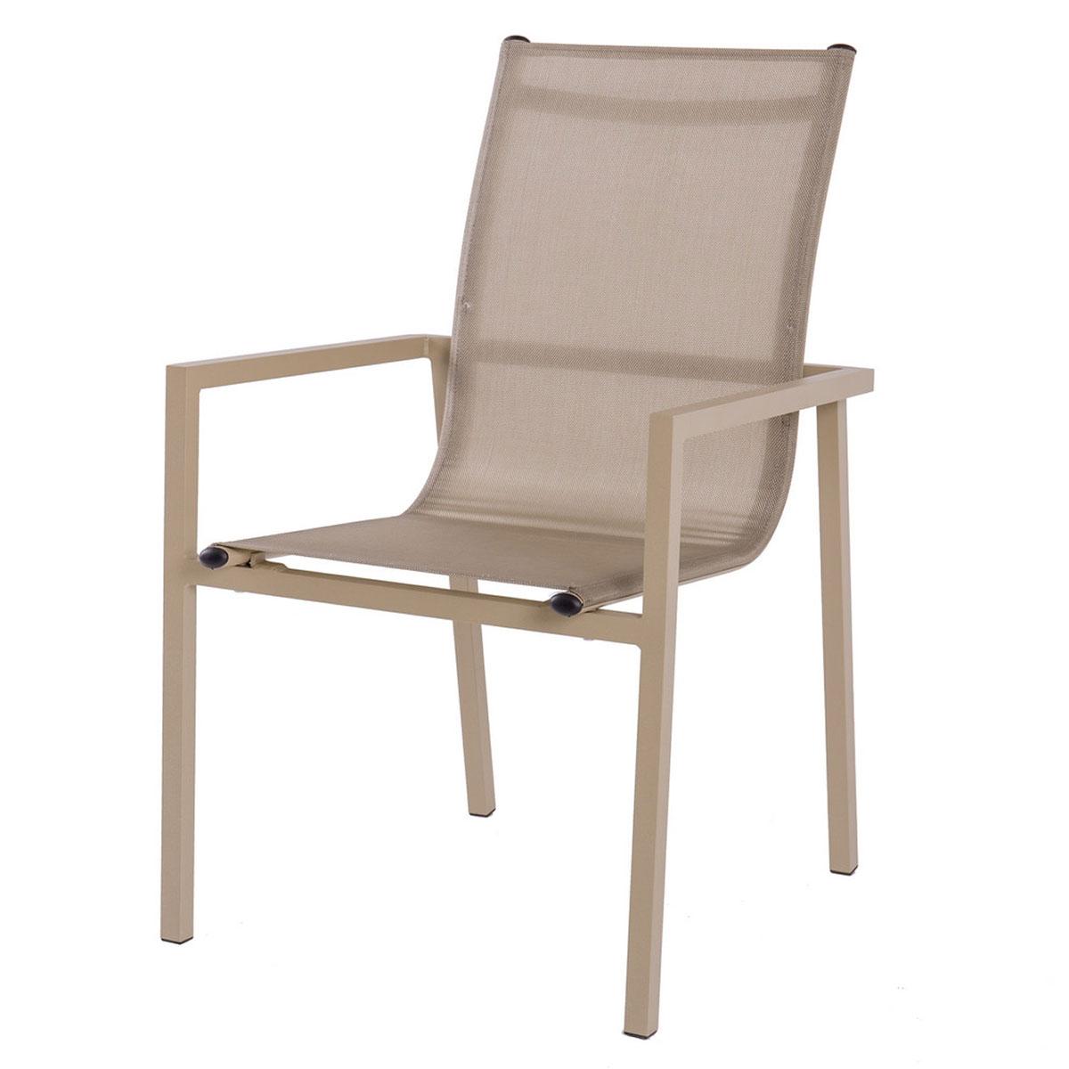 Lot de 2 chaises empilables en coloris champagne - Champagne - 57.00 cm x 56.50 cm x 92.50 cm