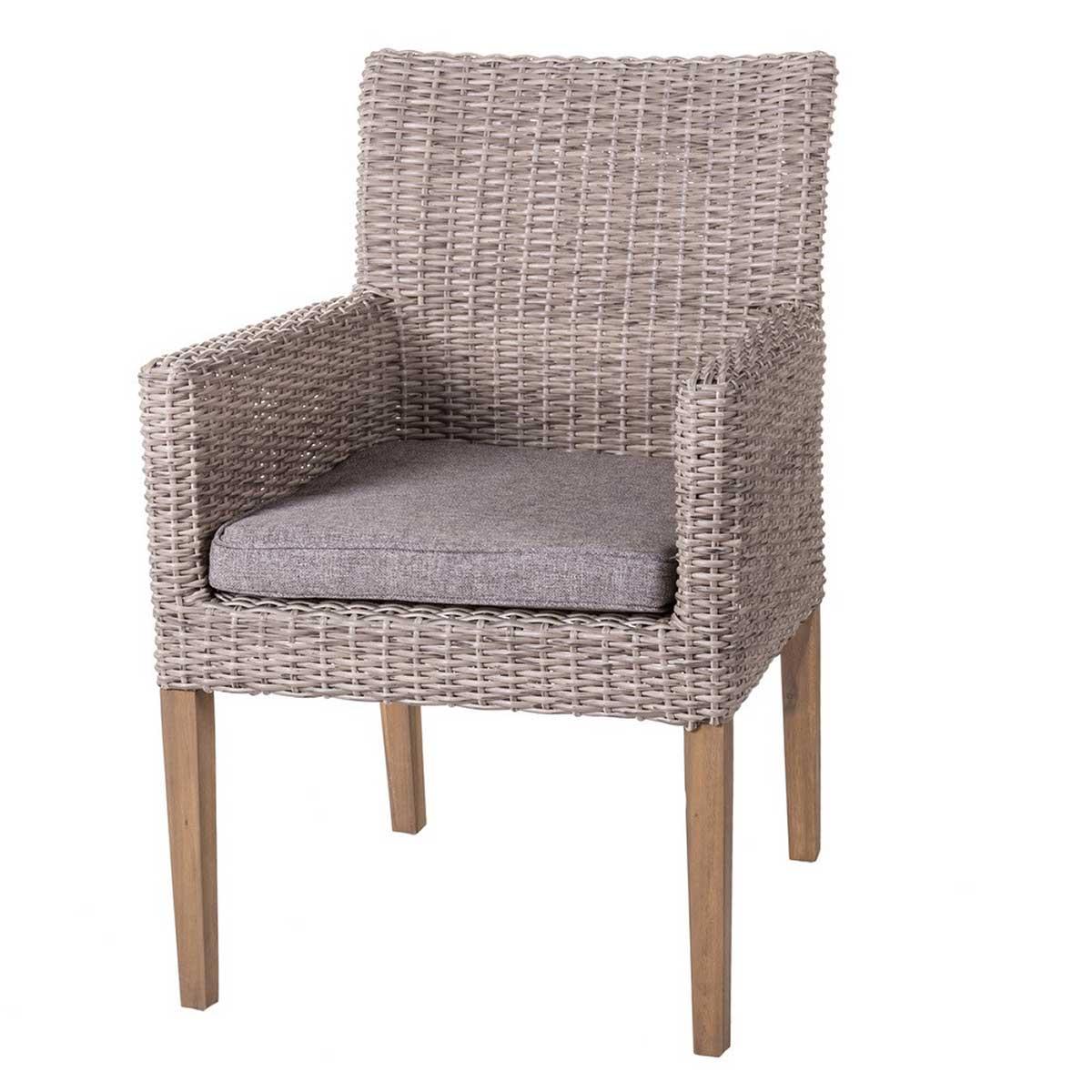 Lot de 2 chaises à manger en rotin vieilli - Vieilli - 60.00 cm x 63.00 cm x 86.00 cm