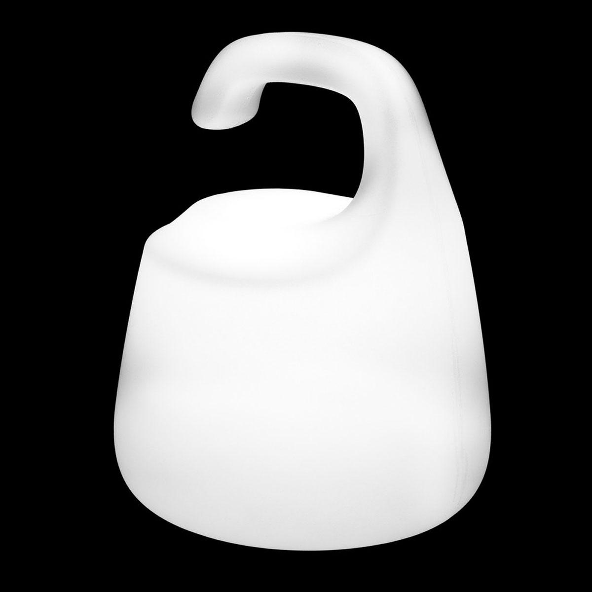 Lampe de table design à led et à poser - Blanc - 20.00 cm x 20.00 cm x 25.00 cm
