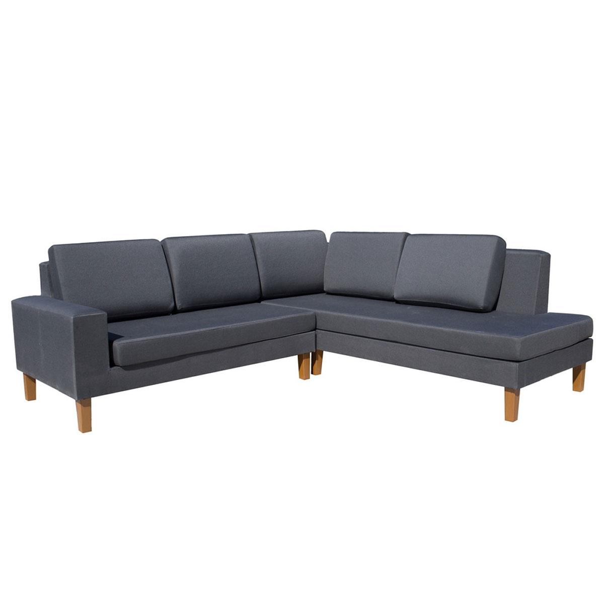 Canapé d'angle pour extérieur 100% imperméable  (Gris)