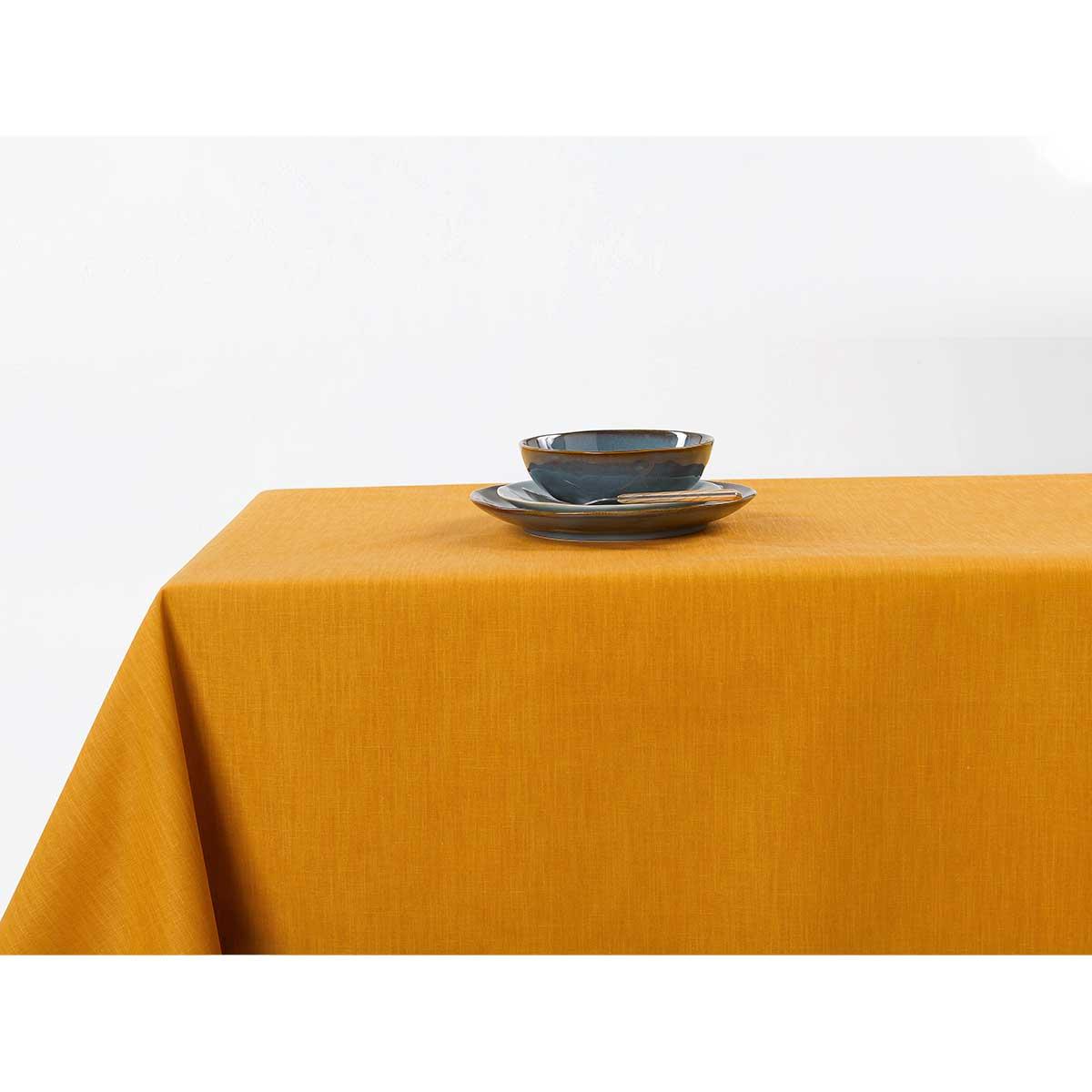 Nappe enduite anti taches aux couleurs acidulées (Jaune)