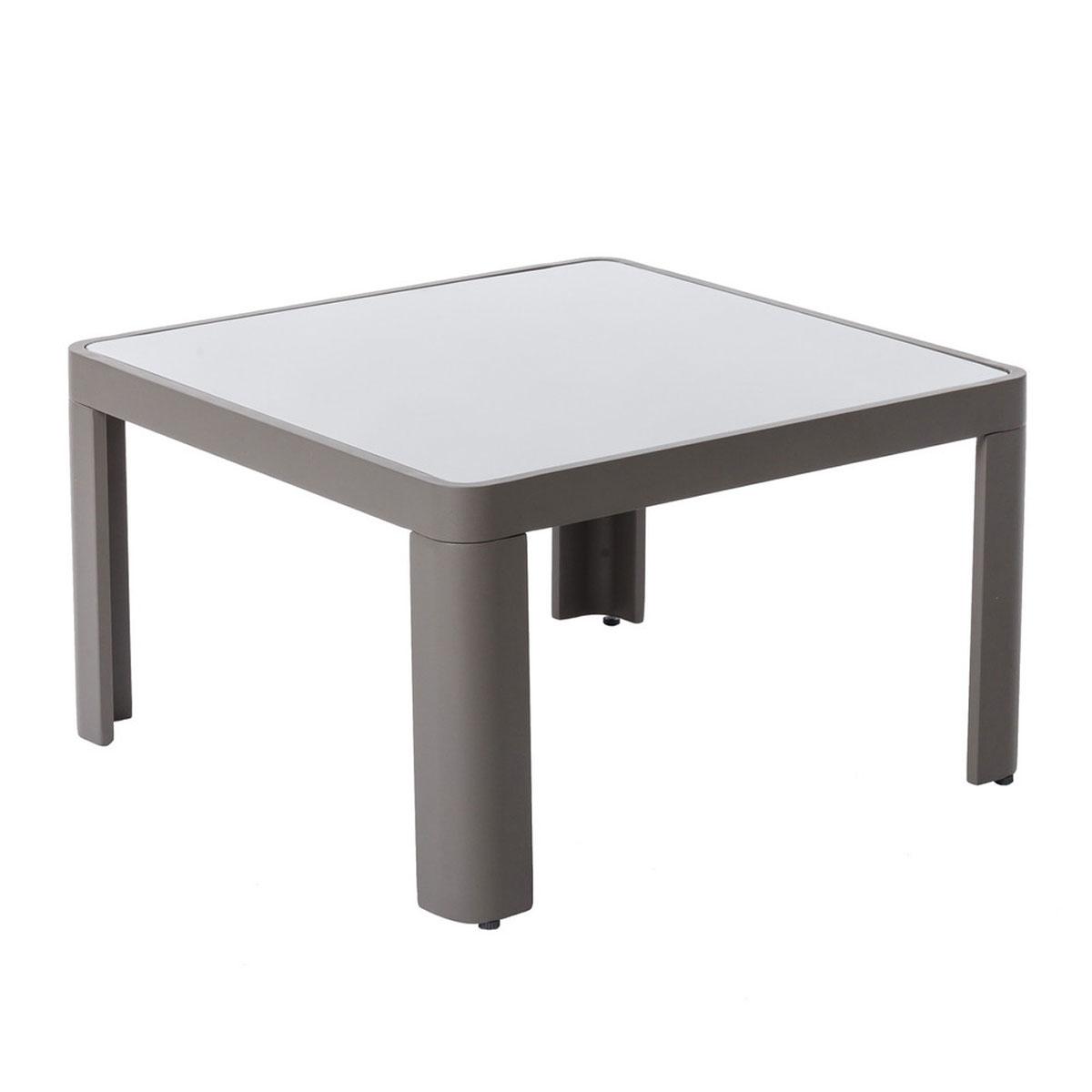 Table basse d'extérieur en aluminium gris - Gris - 70.00 cm x 70.00 cm x 40.00