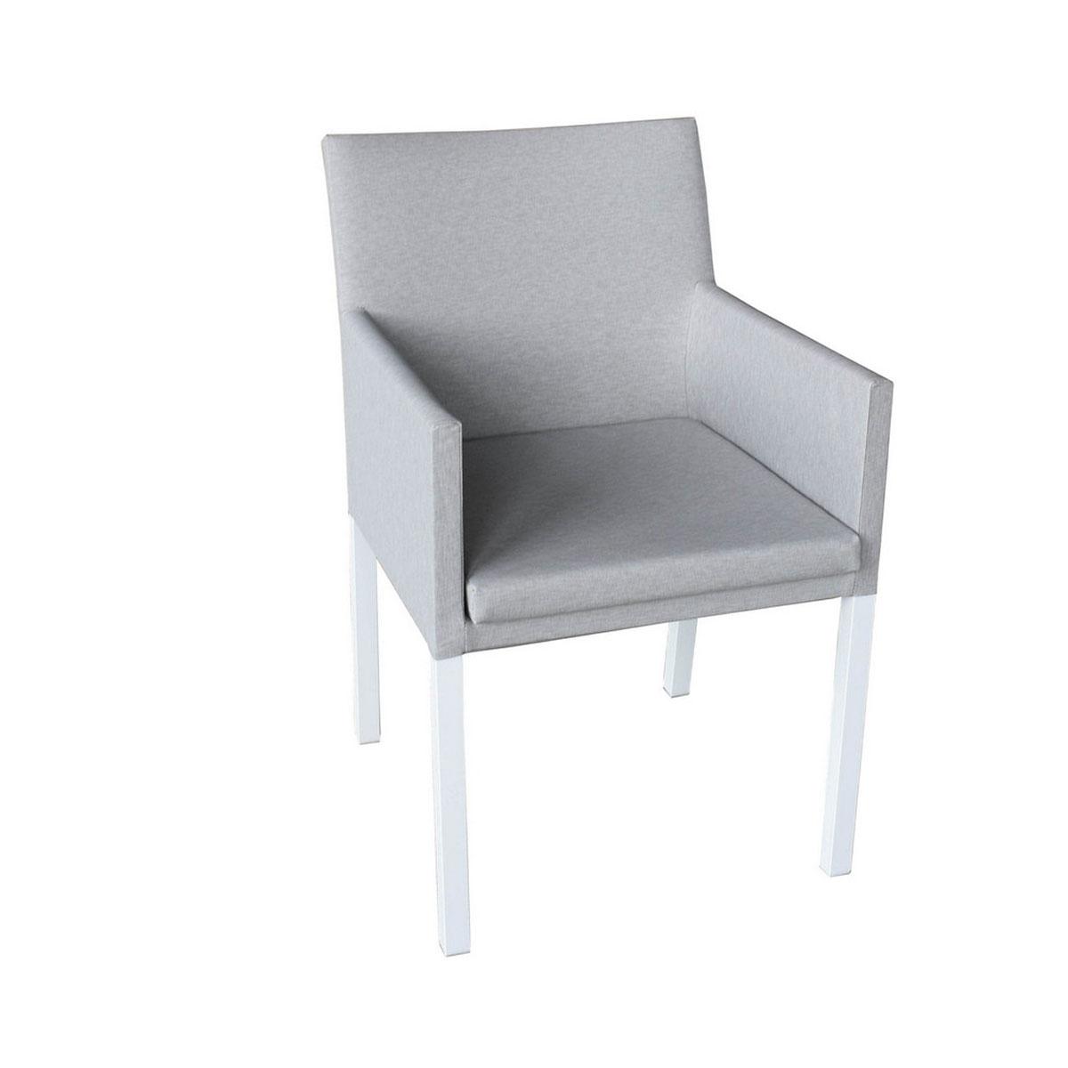 Chaise à manger en textilène (Gris)