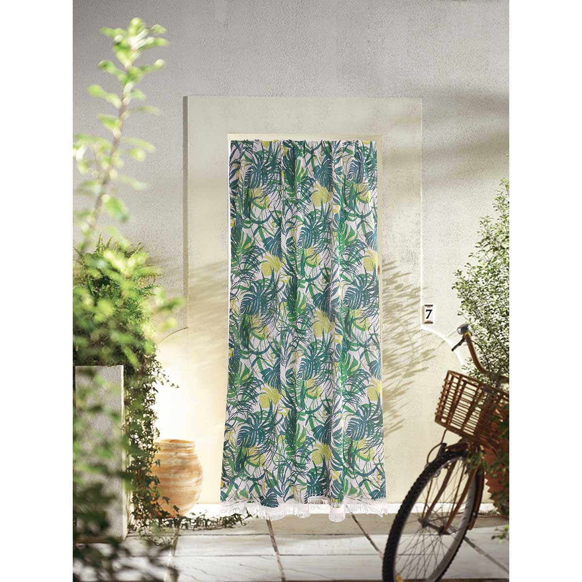 Rideau de porte Marseillais imprimé Jungle - muticolore - 140 x 225 cm