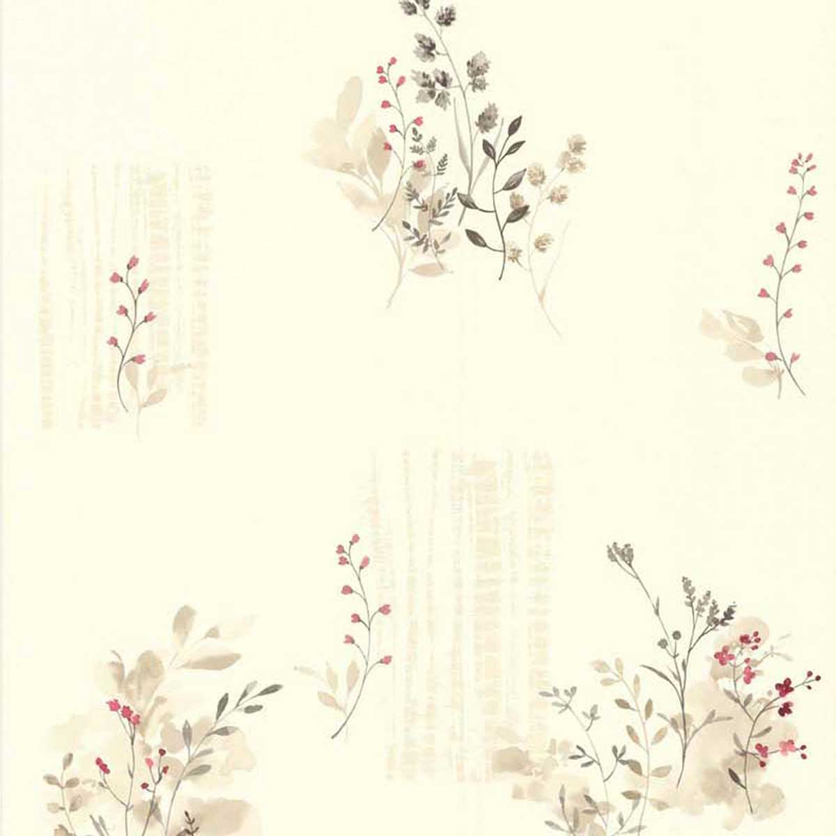 Papel pintado LUTECE estampado flores campestres  (Beige)
