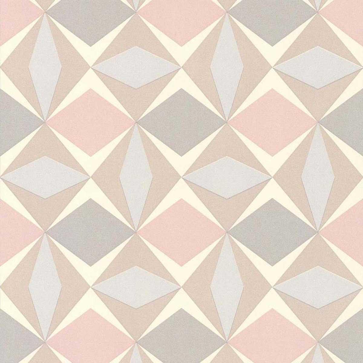 Papier peint LUTECE à motifs géométriques - Bleu - 10 ml x 0,53 m