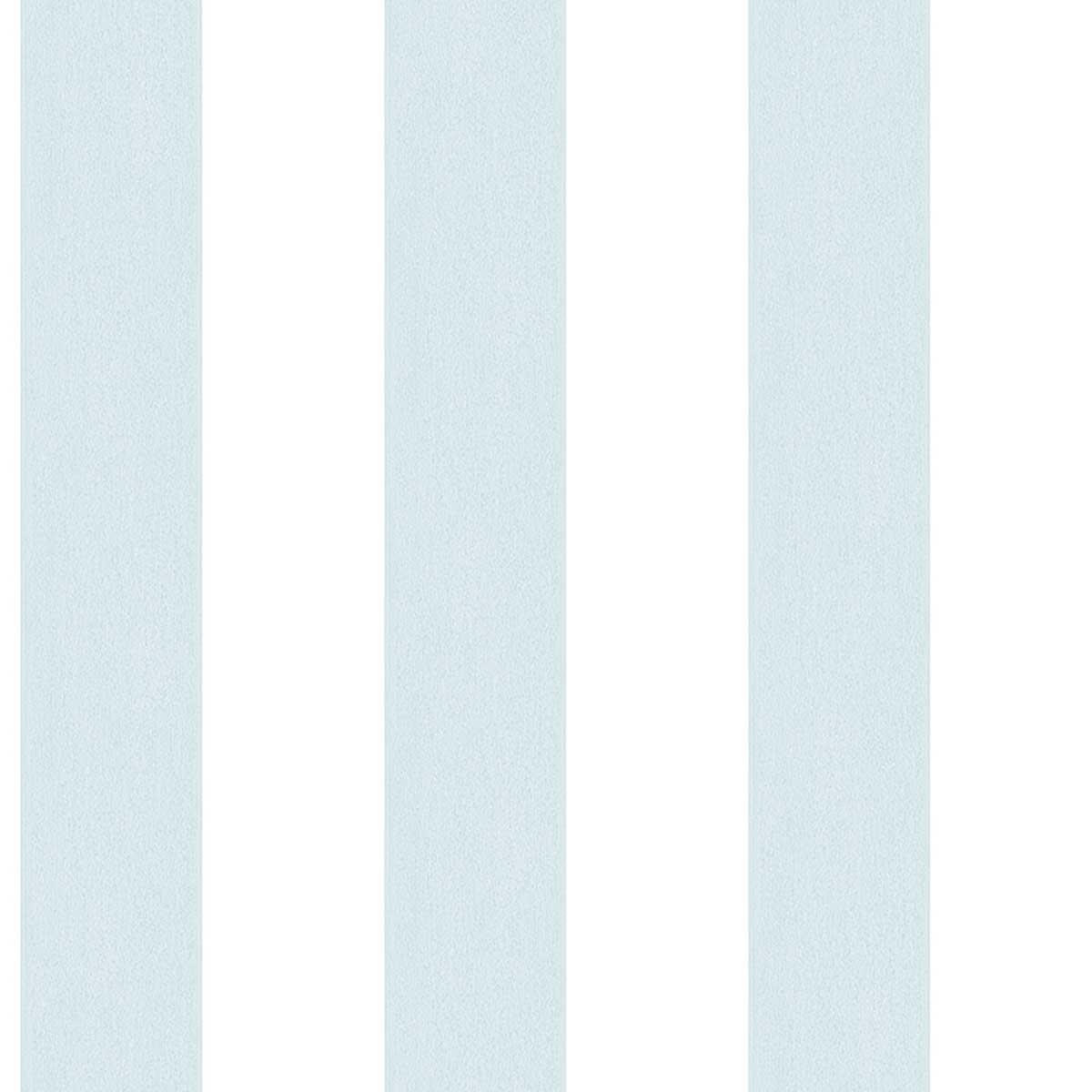 Papier peint LUTECE à rayures bicolores - Bleu/Blanc - 10 m x 0,53 m