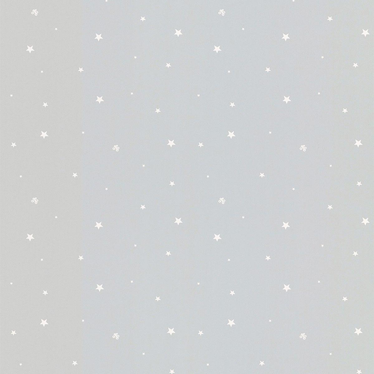 Papier peint enfant LUTECE pluie d'étoiles (Gris)