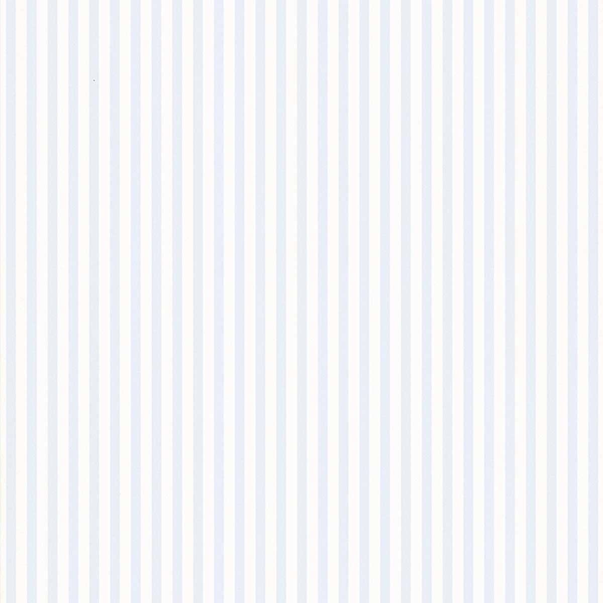 Papier peint LUTECE à petites rayures bicolores - Blanc Bleu - 10.05 m x 0,53 m