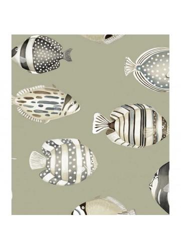 Tissu imprimé poissons tropicaux