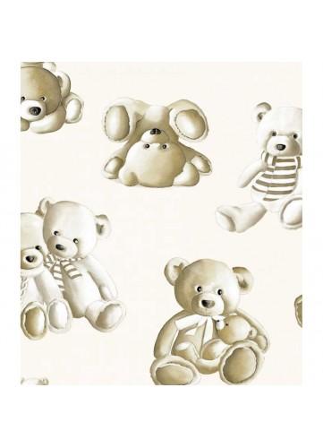 Tissu enfant imprimé oursons en peluche