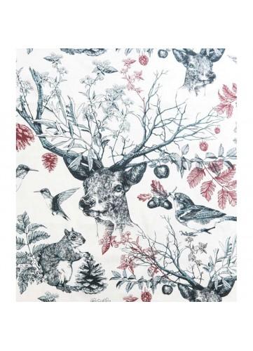 Tissu imprimé la forêt poétique