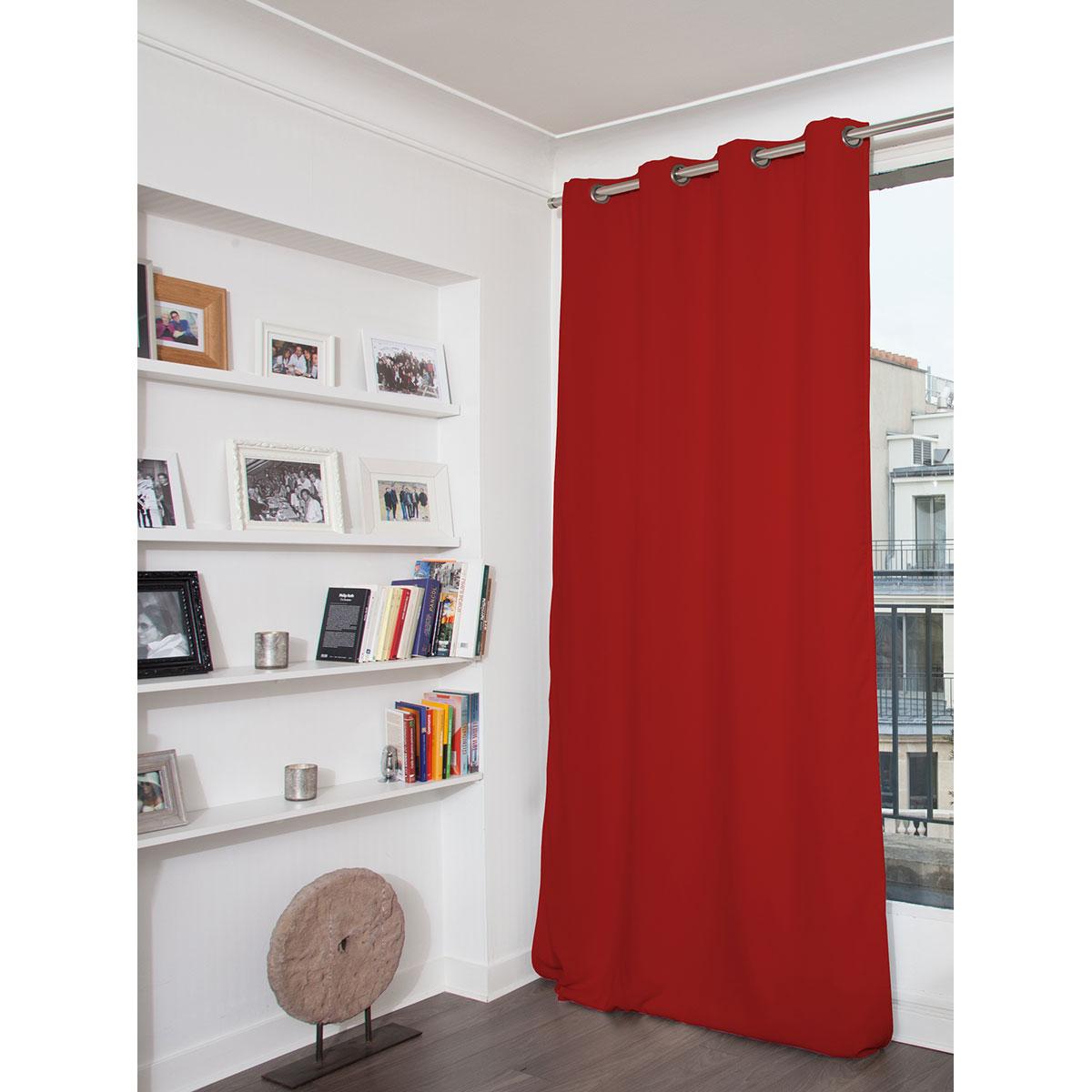 Rideau Phonique Occultant et Thermique MOONDREAM - Rouge - 140 x 260 cm