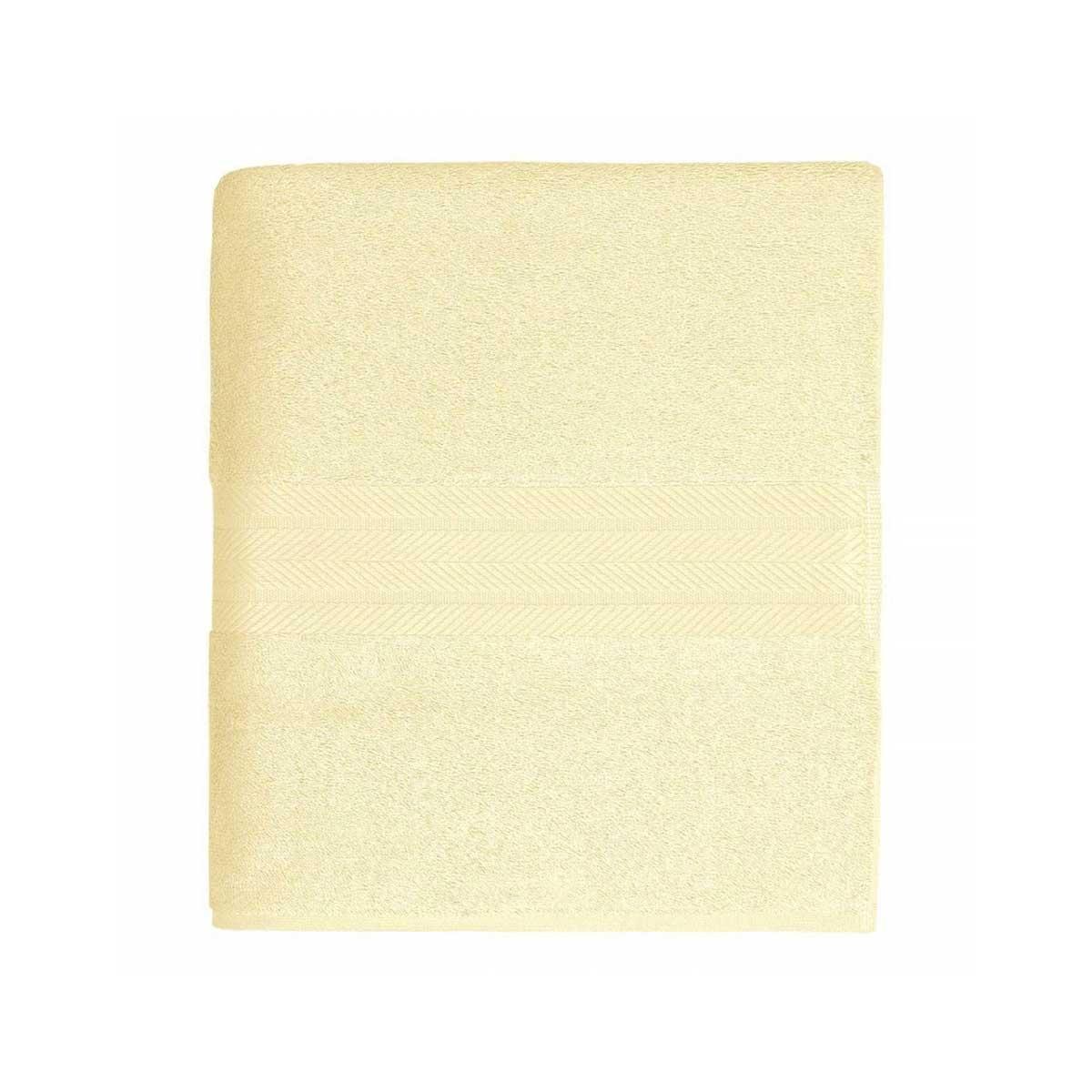Linge de bain en coton moelleux 550gr/m² - Ecru - 70 x 140 cm