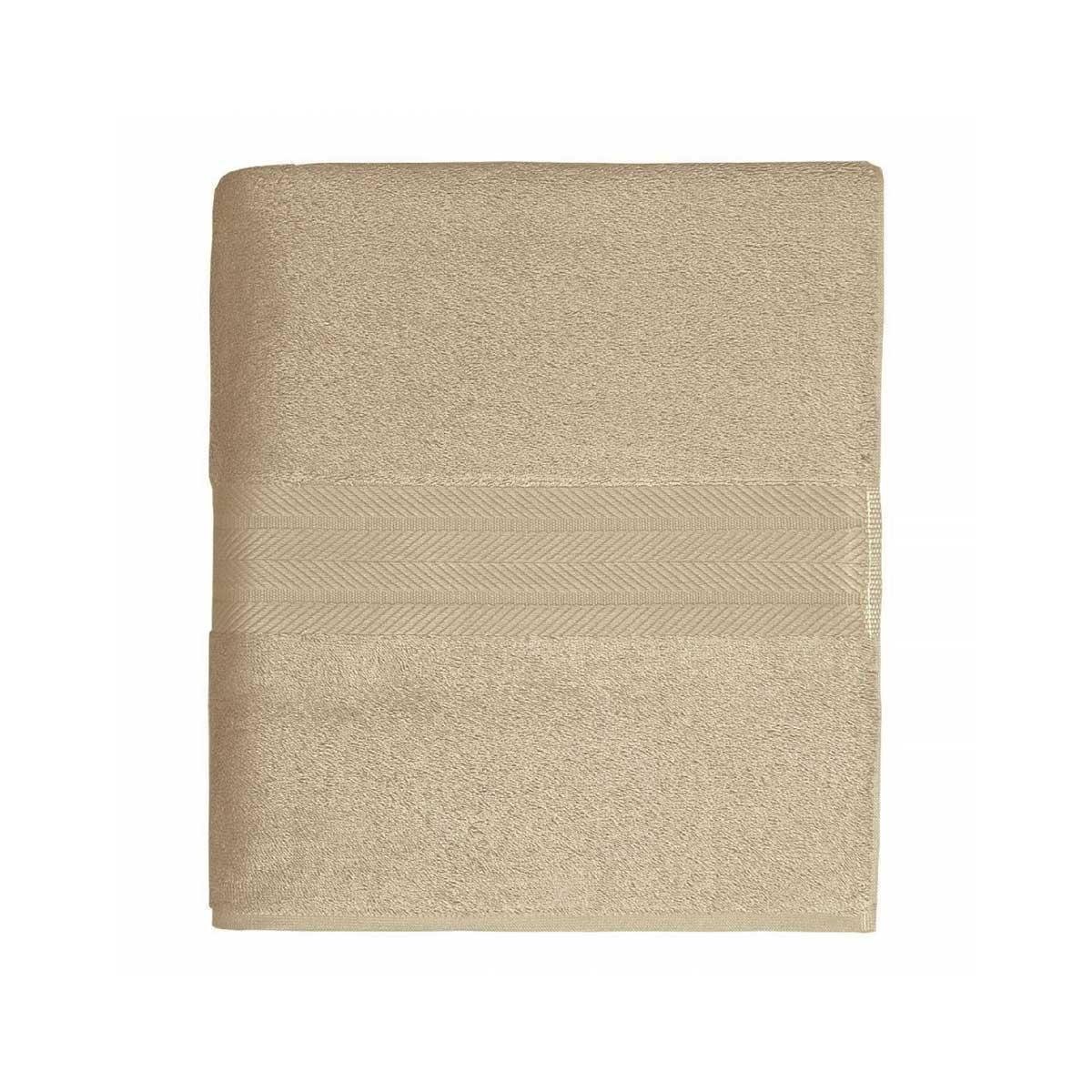 Linge de bain en coton moelleux 550gr/m² - Ficelle - 70 x 140 cm