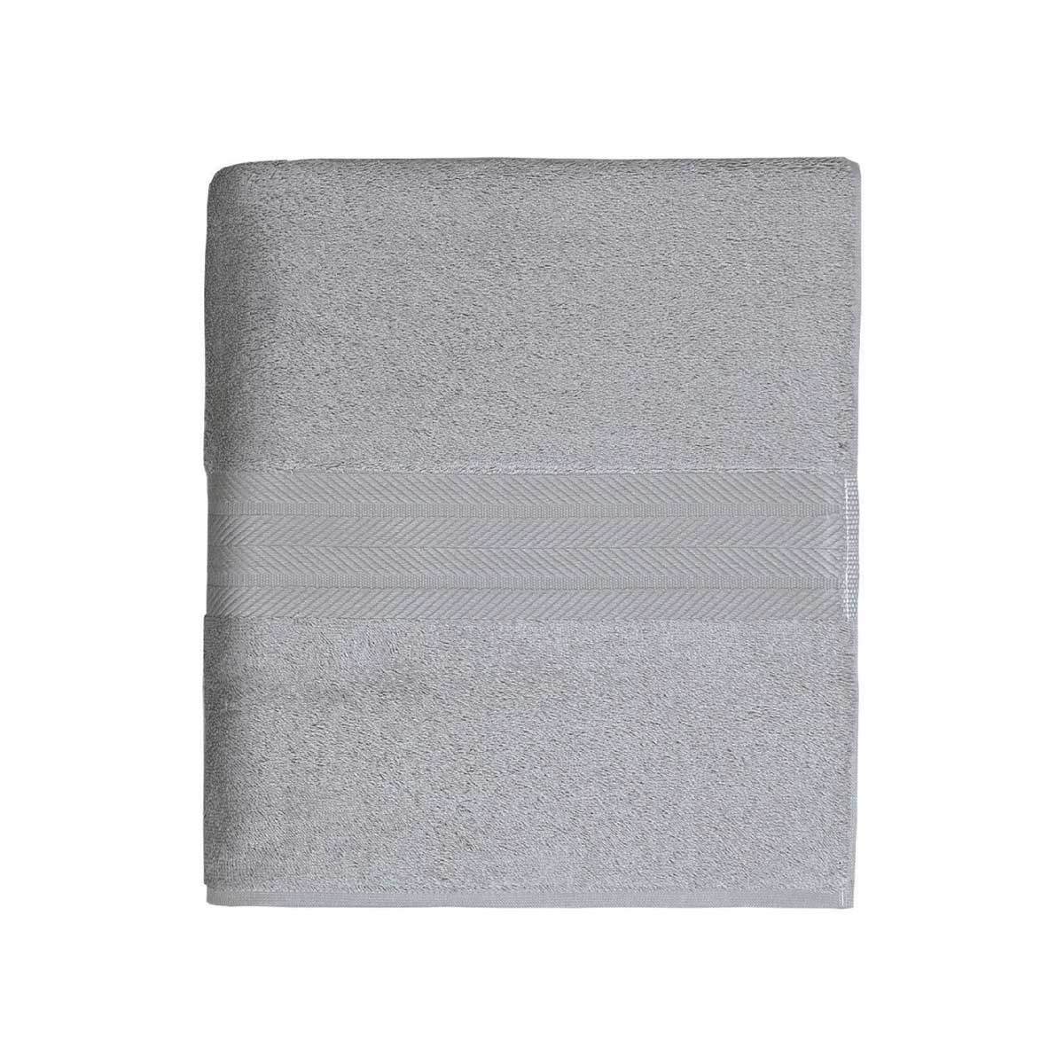 Linge de bain en coton moelleux 550gr/m²  (Gris Perle)