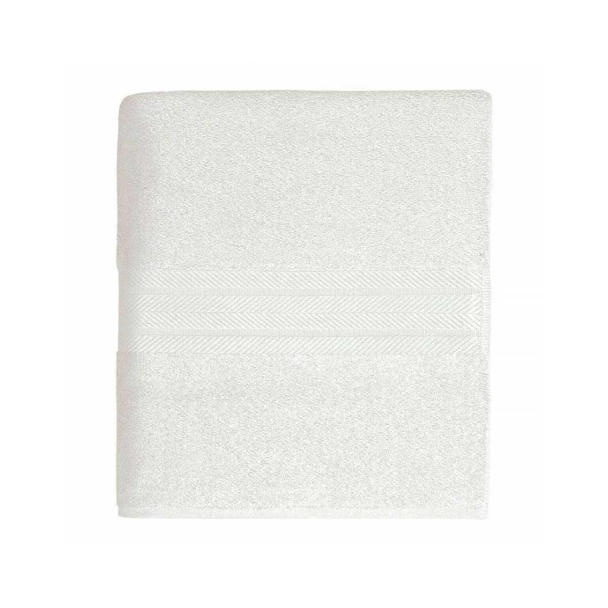 Linge de bain en coton moelleux 550gr/m² - Blanc - 70 x 140 cm