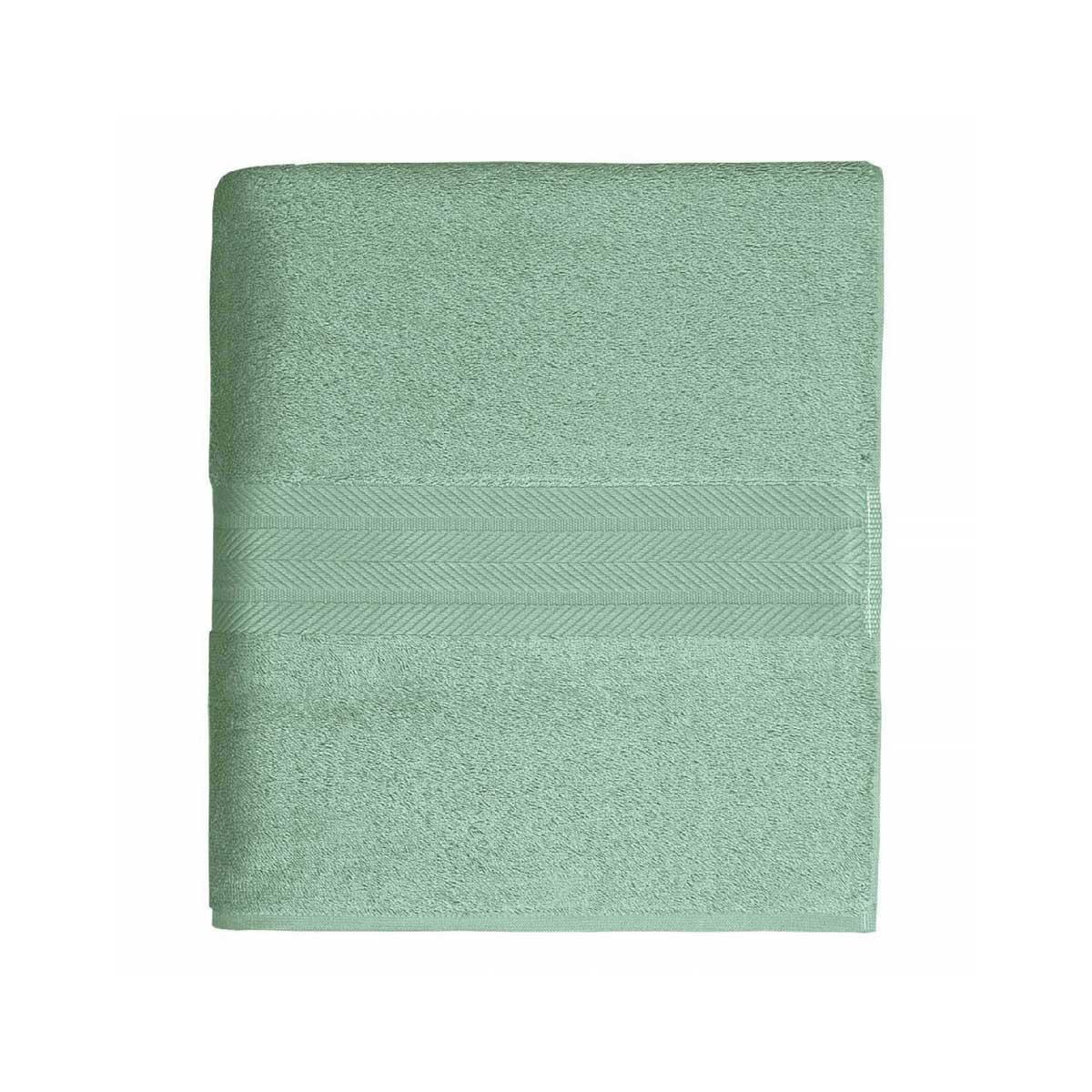 Linge de bain en coton moelleux 550gr/m² - Céladon - 70 x 140 cm