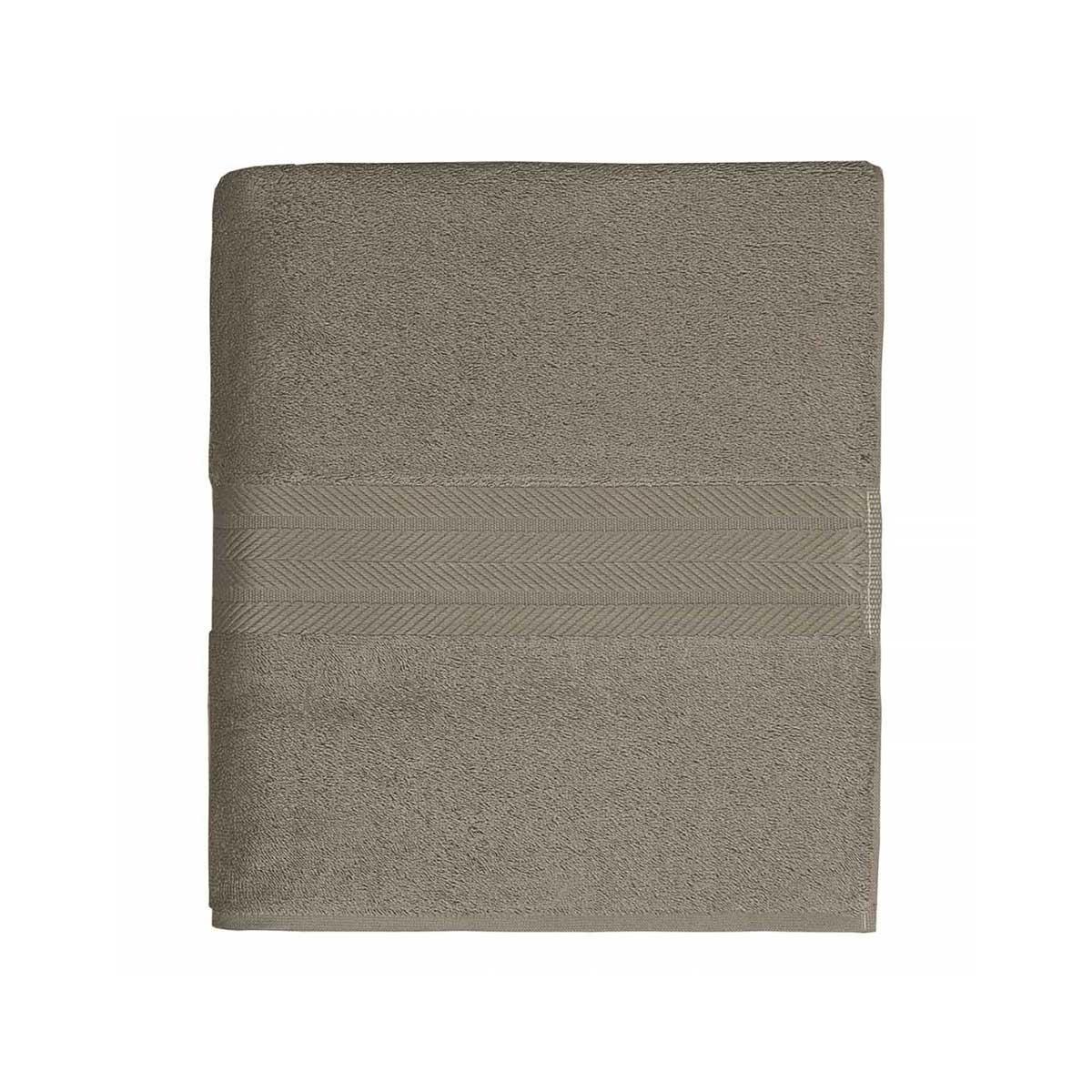Linge de bain en coton moelleux 550gr/m² - Mastic - 70 x 140 cm