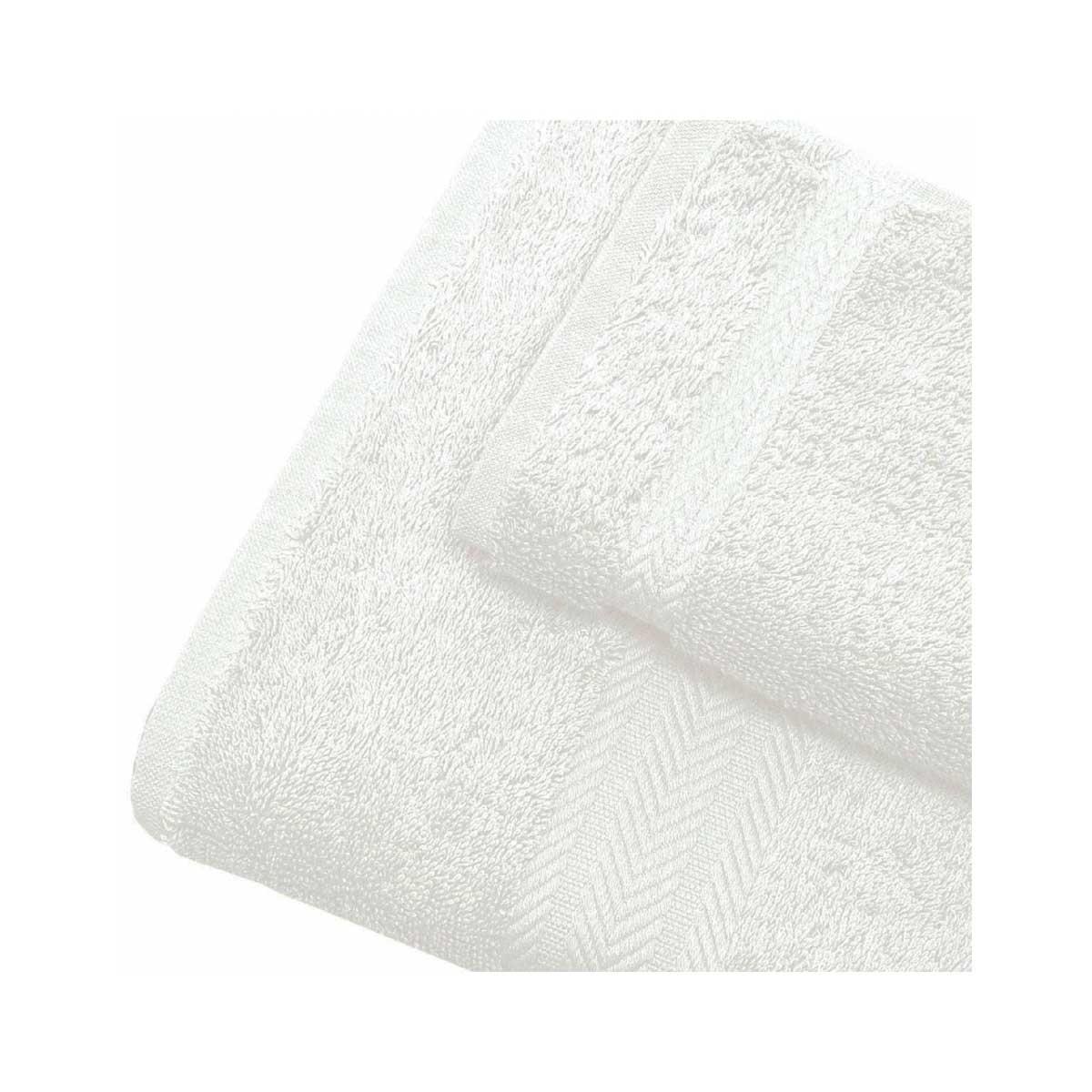 Linge de bain en coton 550gr/m² blanc (Blanc)