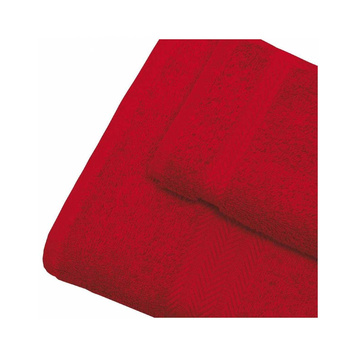 Linge de bain en coton 550gr/m² rubis (Rubis)
