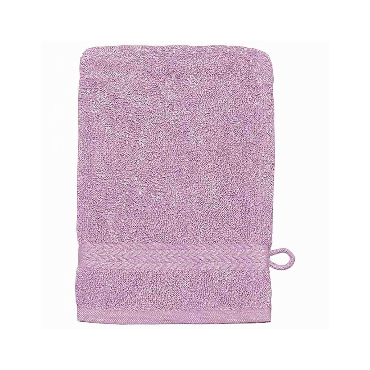 Gant de toilette 16 x 22 cm en Coton couleur Parme - Parme - 16x22 cm
