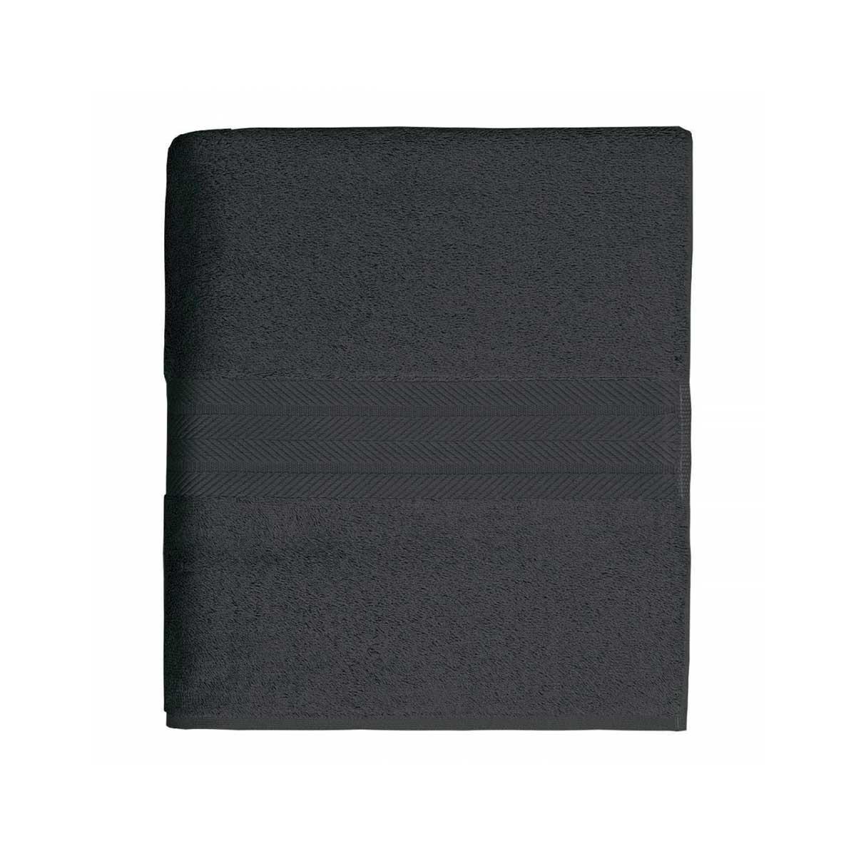 Linge de bain en coton moelleux 550gr/m² - Anthracite - 50 x 100 cm