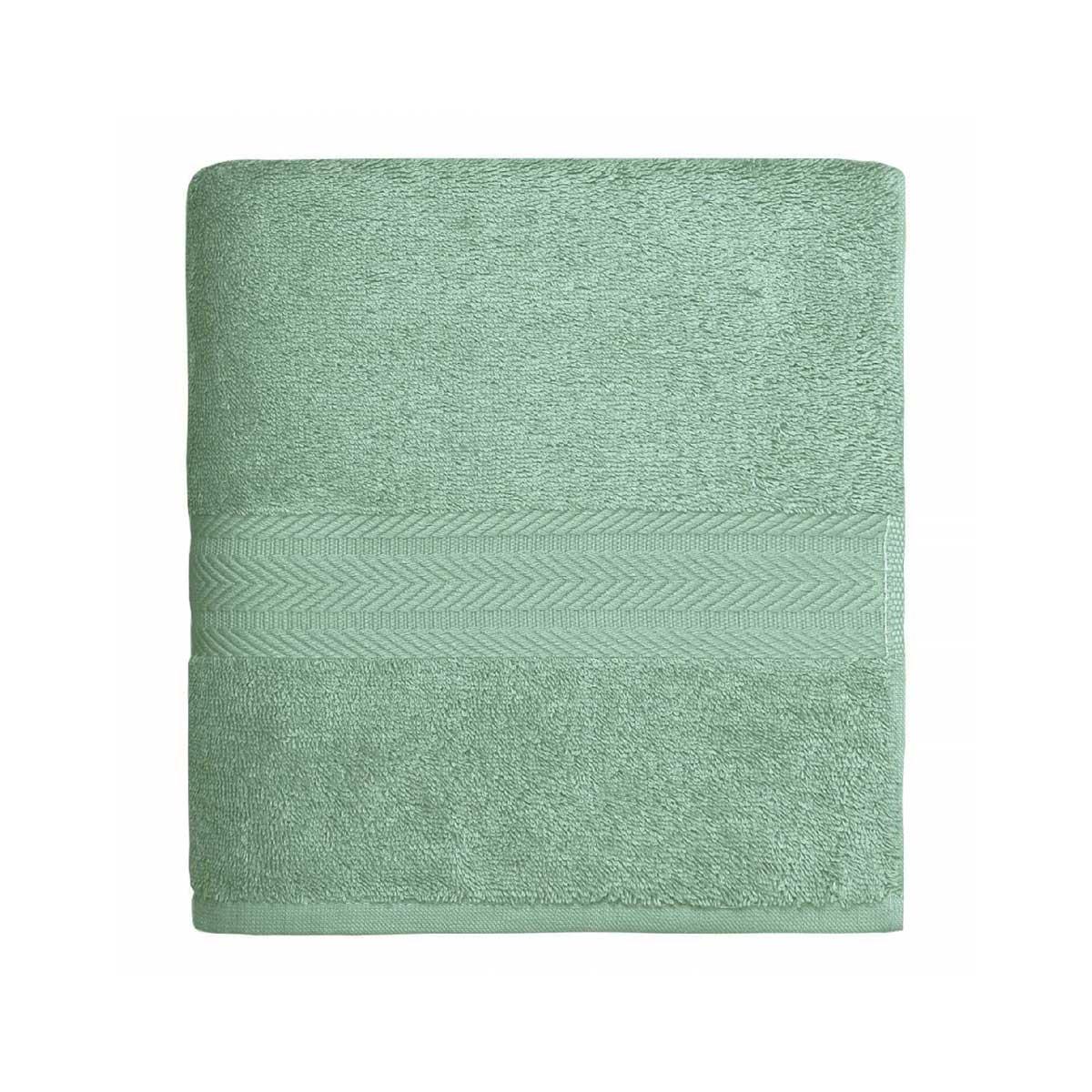 Linge de bain en coton moelleux 550gr/m² - Céladon - 50 x 100 cm