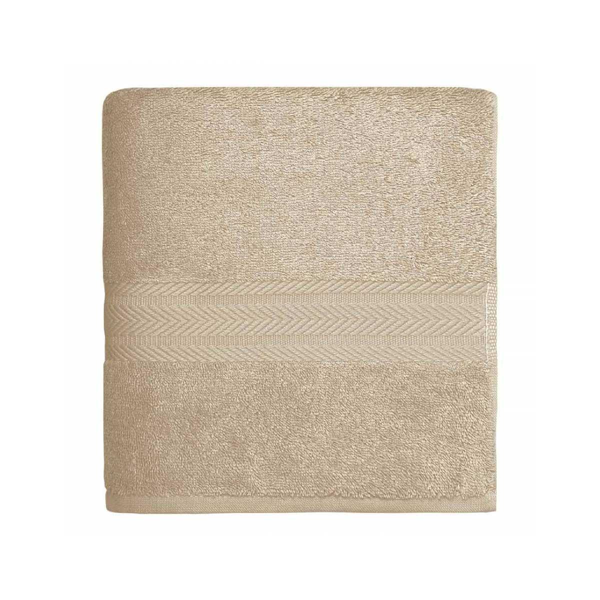 Linge de bain en coton moelleux 550gr/m² - Ficelle - 50 x 100 cm