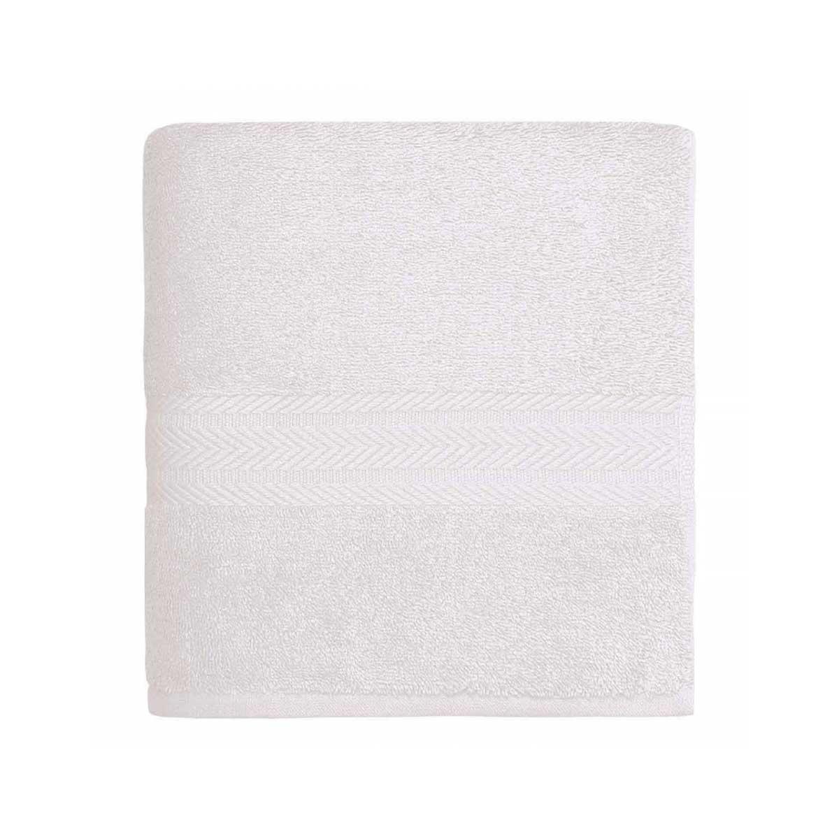 Linge de bain en coton moelleux 550gr/m² - Blanc - 50 x 100 cm